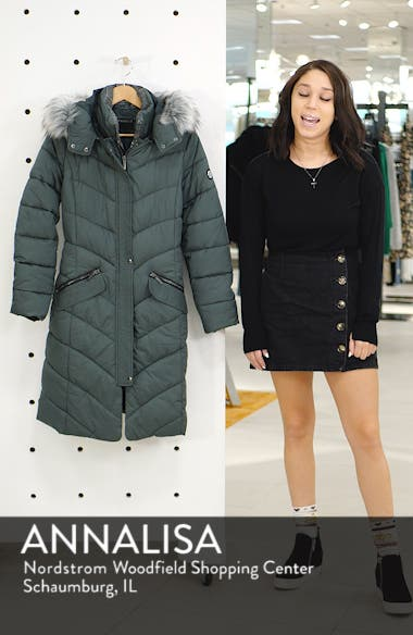 Puffer Jacket with Faux Fur Trim, sales video thumbnail