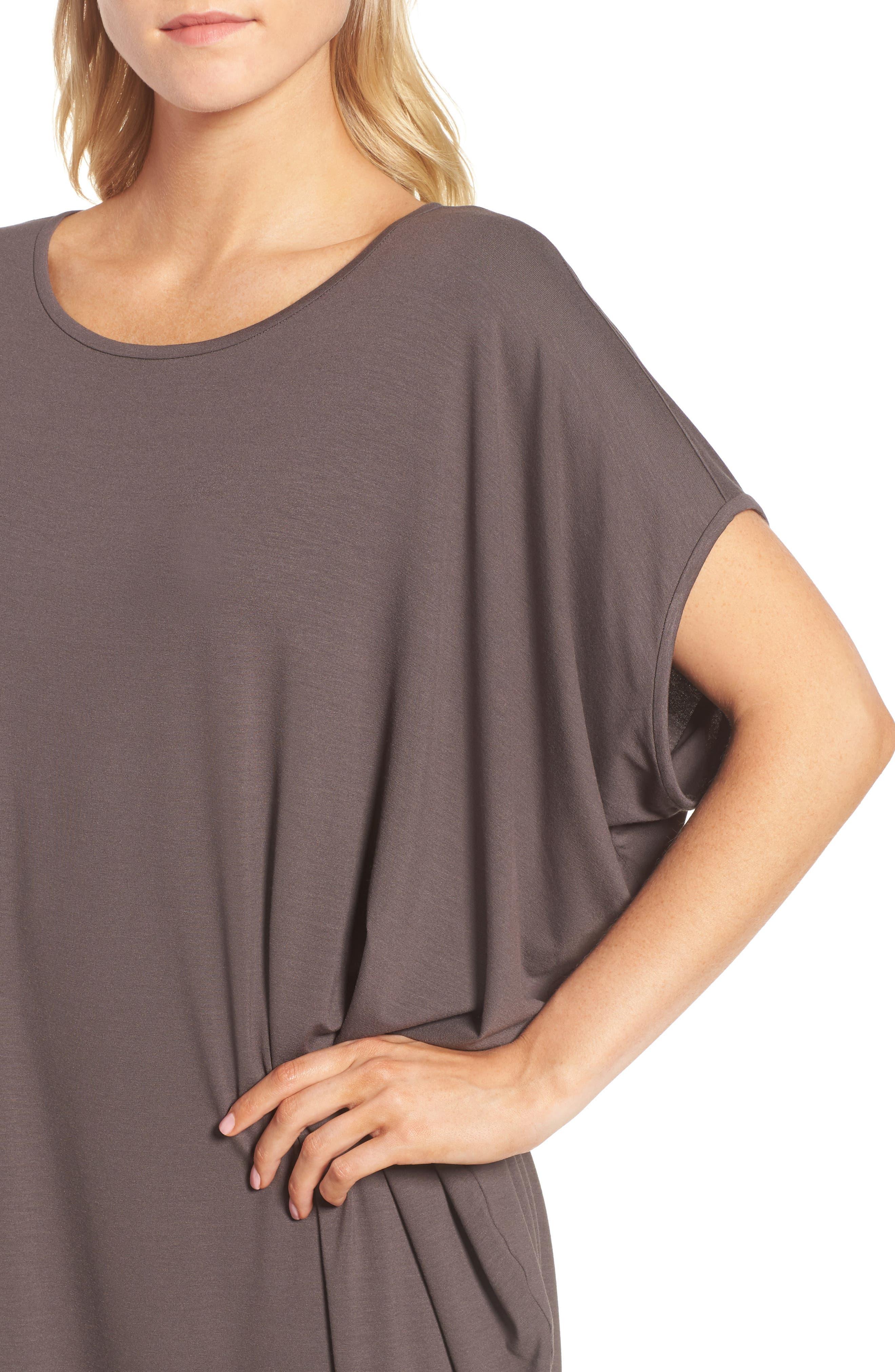 Asymmetrical Jersey Shift Dress,                             Alternate thumbnail 14, color,