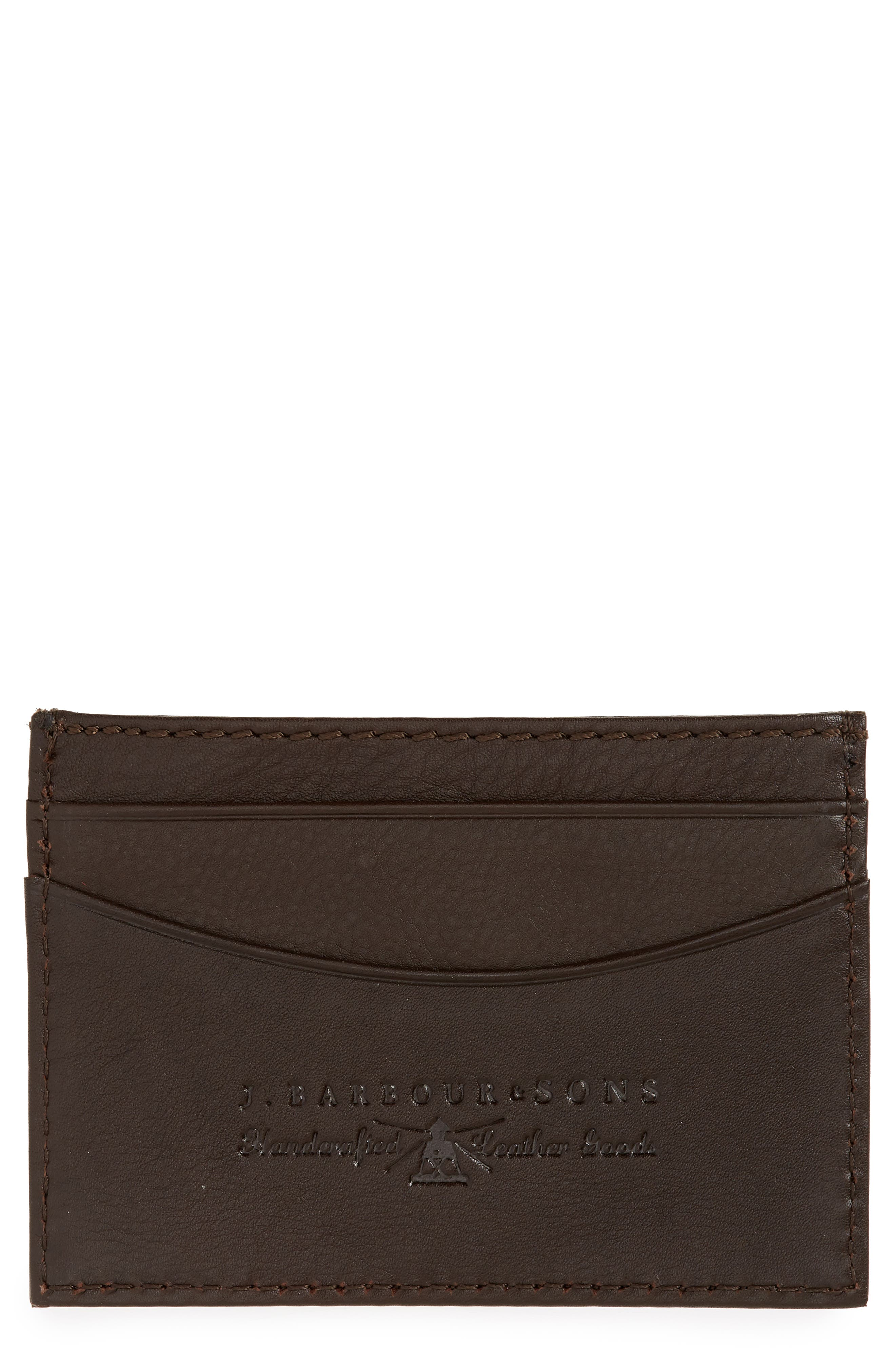 Leather Card Case, Main, color, 200
