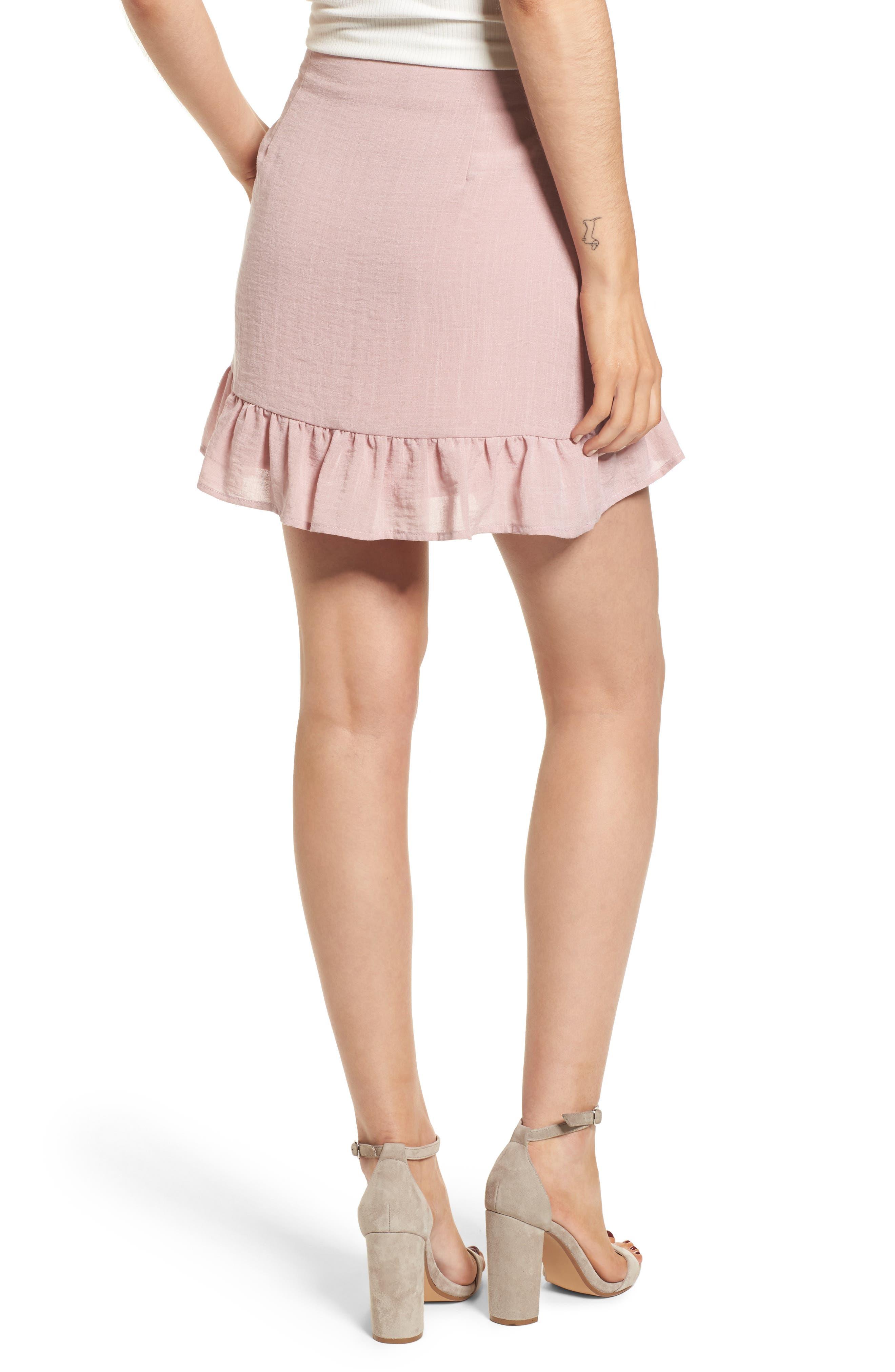 Peony Ruffle Hem Skirt,                             Alternate thumbnail 2, color,                             681