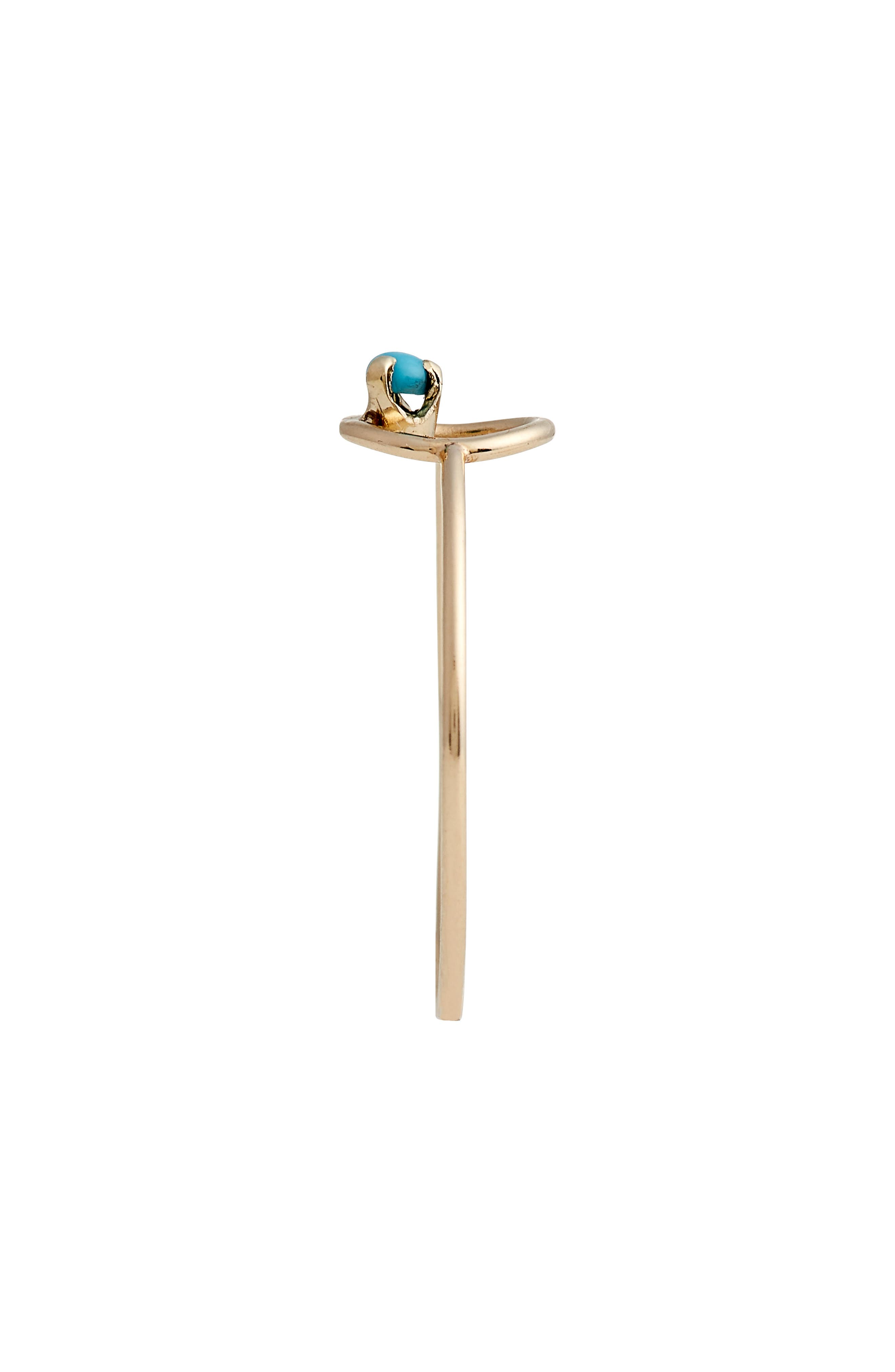 Turquoise Circle Ring,                             Alternate thumbnail 3, color,                             YELLOW GOLD/ TURQUOISE