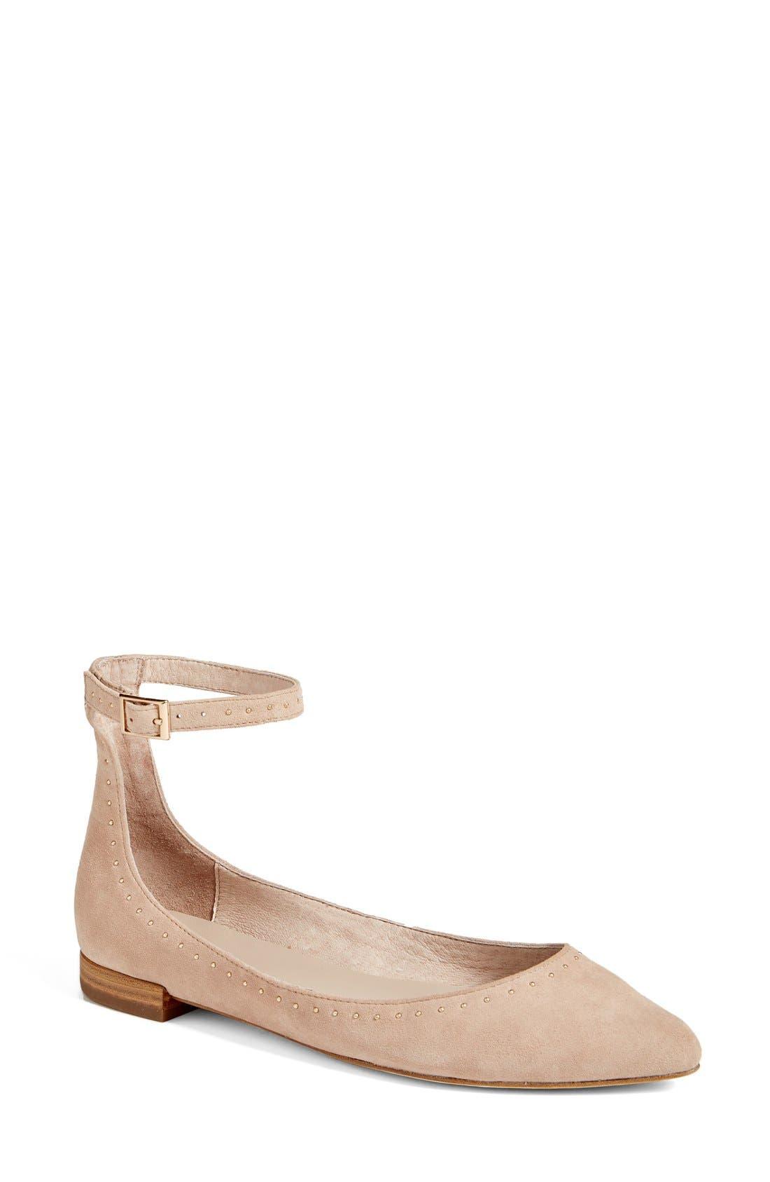Afra Ankle Strap Ballet Flat,                             Main thumbnail 1, color,                             250