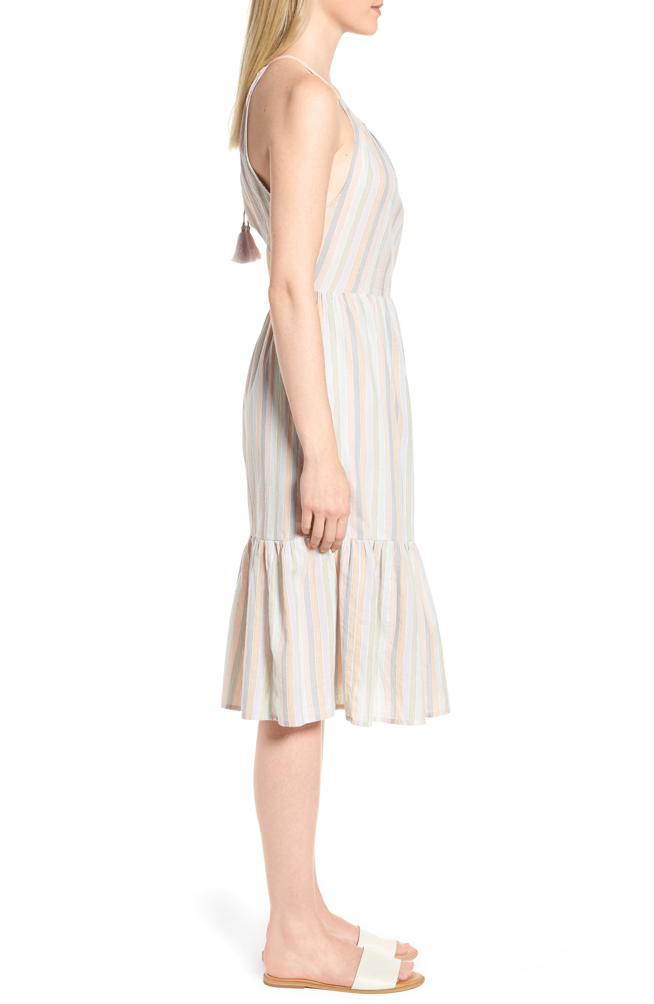 Pastel Stripe Dress,                             Alternate thumbnail 3, color,                             950