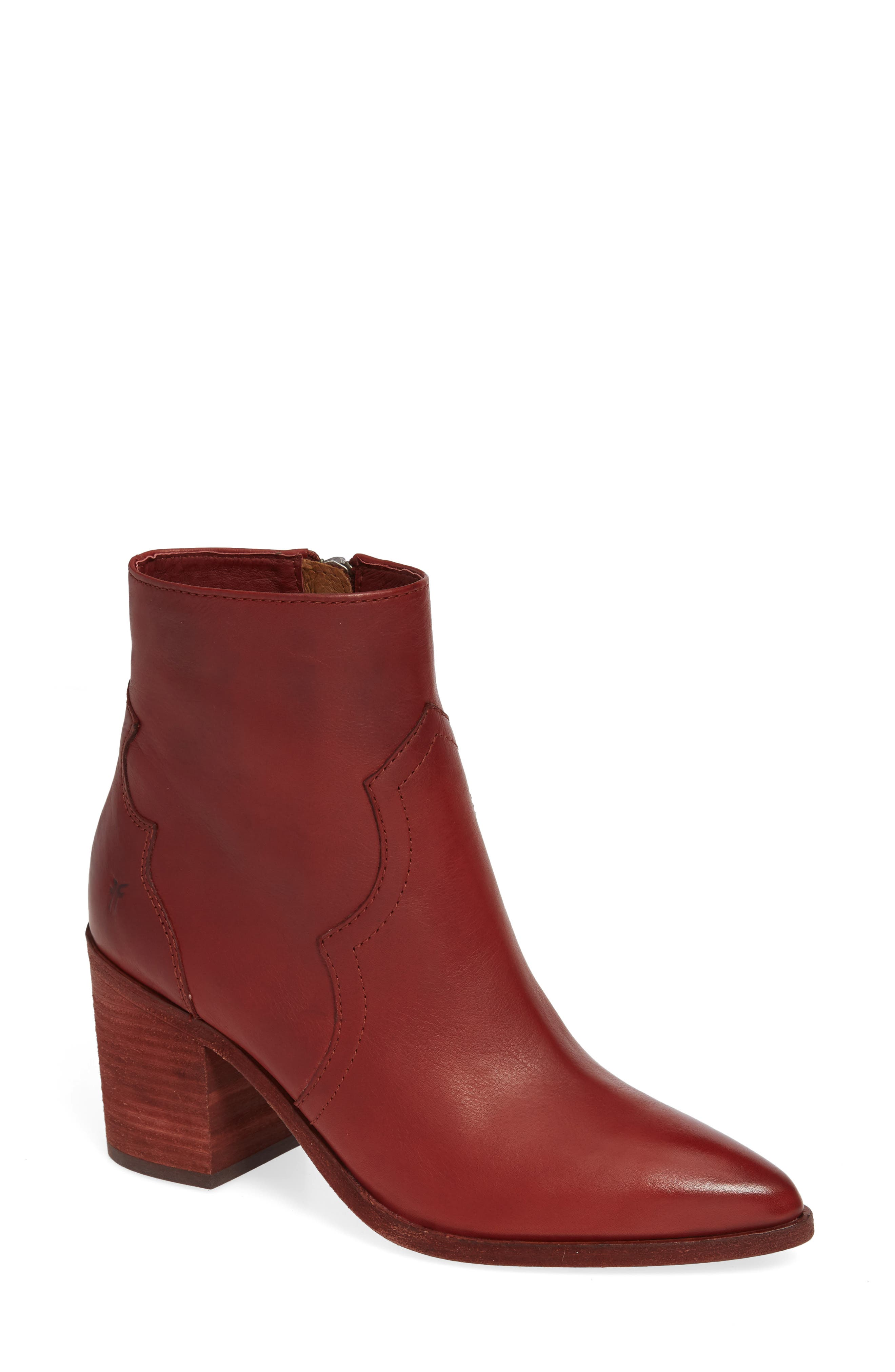 Flynn Bootie,                             Main thumbnail 1, color,                             RED CLAY LEATHER