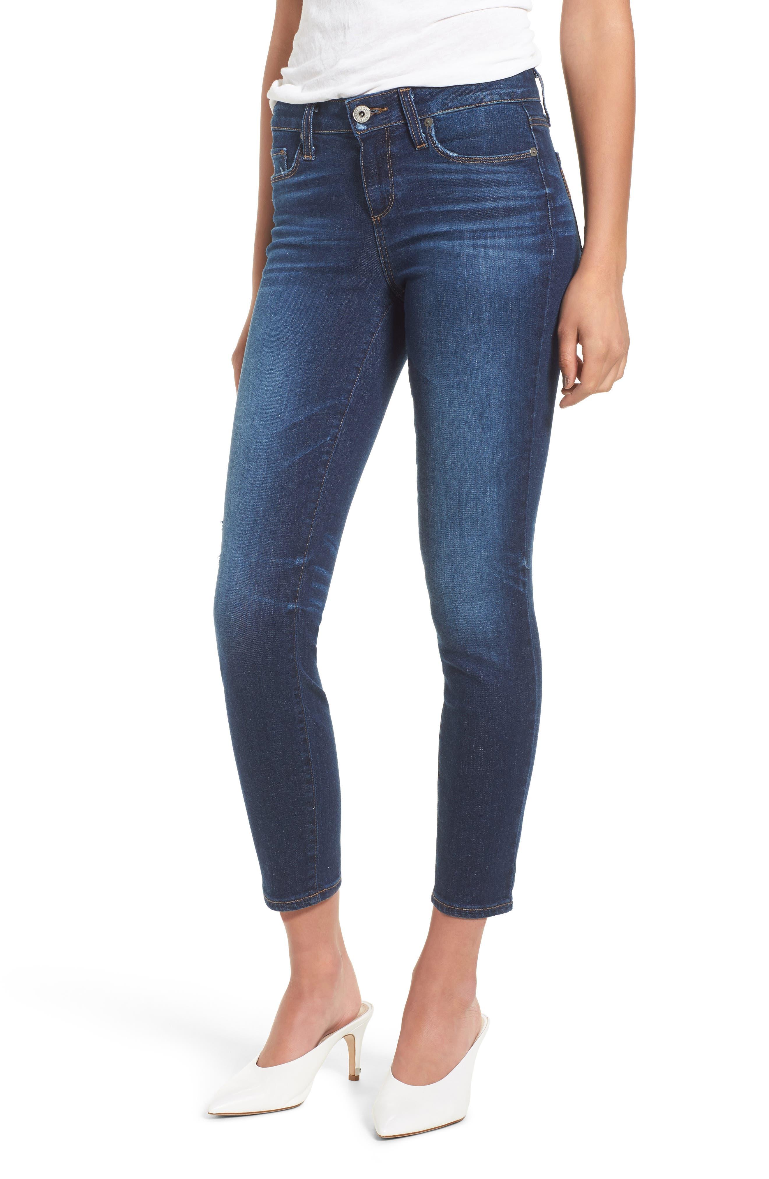 Verdugo Transcend Vintage Crop Skinny Jeans,                         Main,                         color, 400