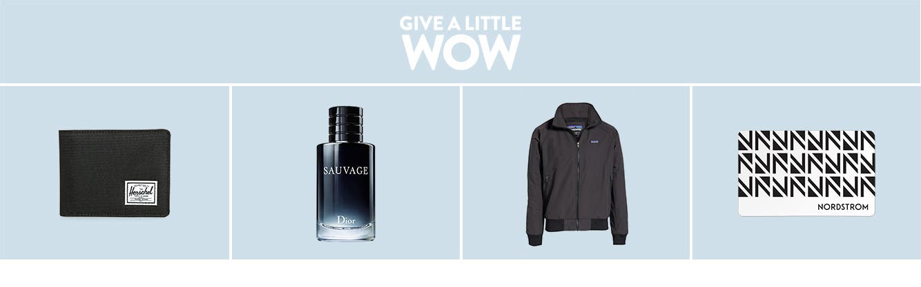 Give a little wow: Gifts for him.