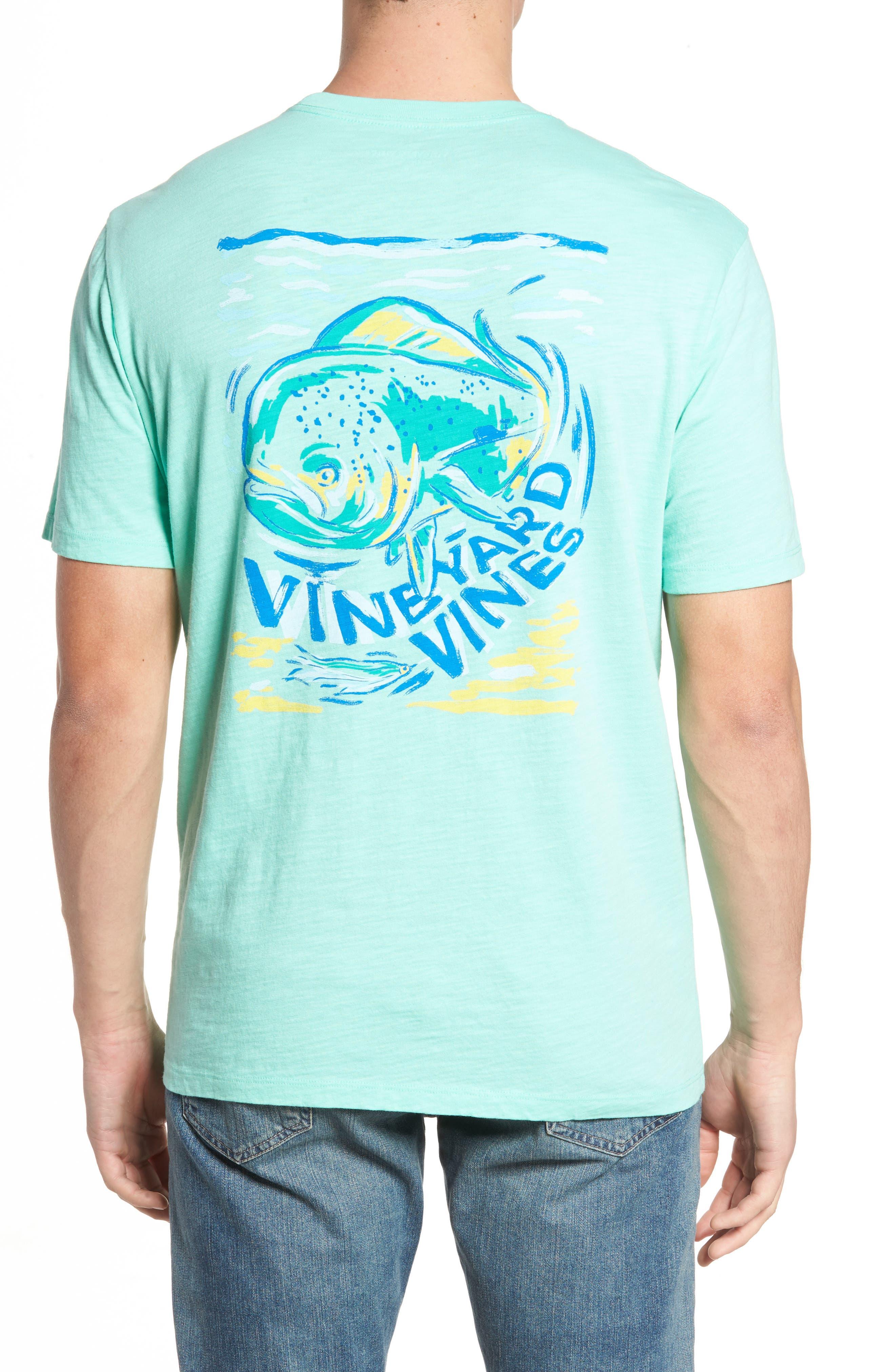 Painted Mahi Graphic Slub T-Shirt,                             Alternate thumbnail 2, color,