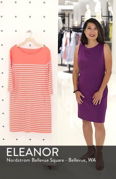 Stripe Cotton Knit Shift Dress, sales video thumbnail