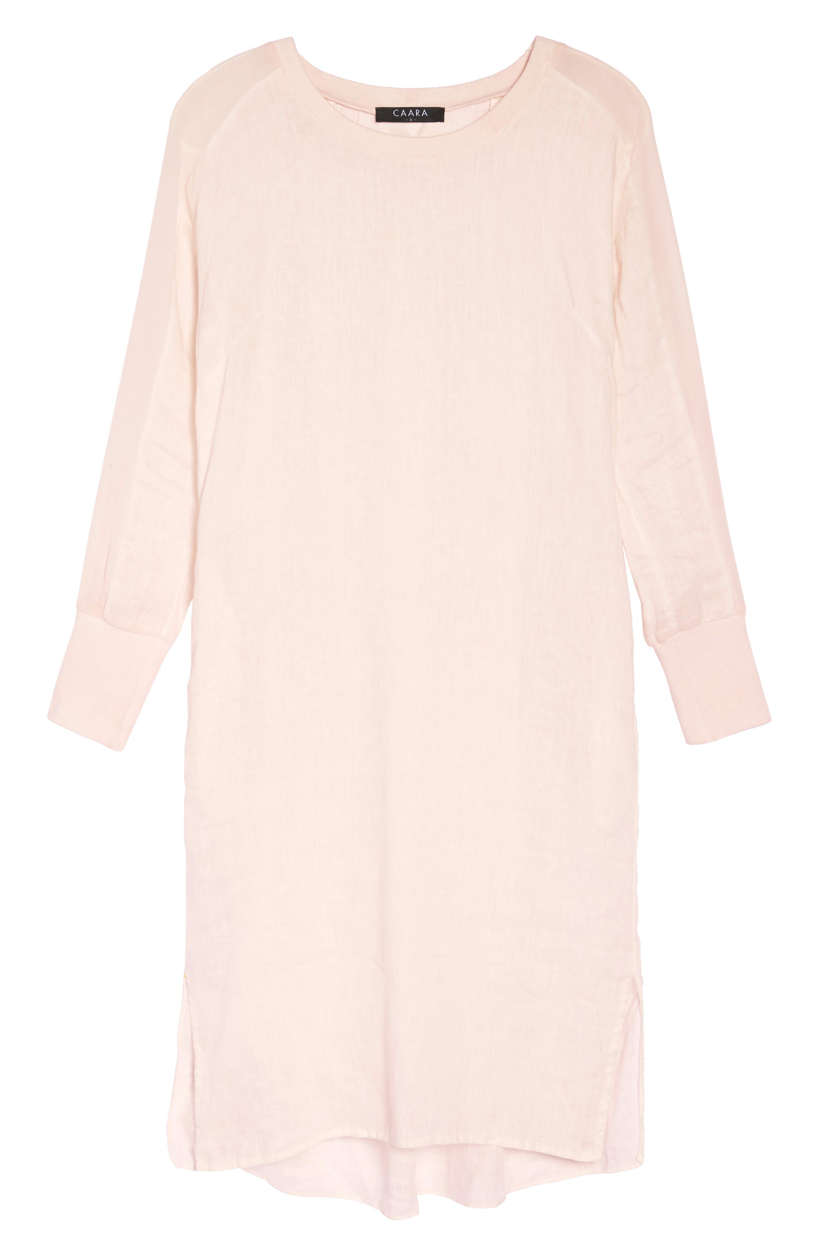 Rata Linen Shift Dress,                             Alternate thumbnail 8, color,                             680