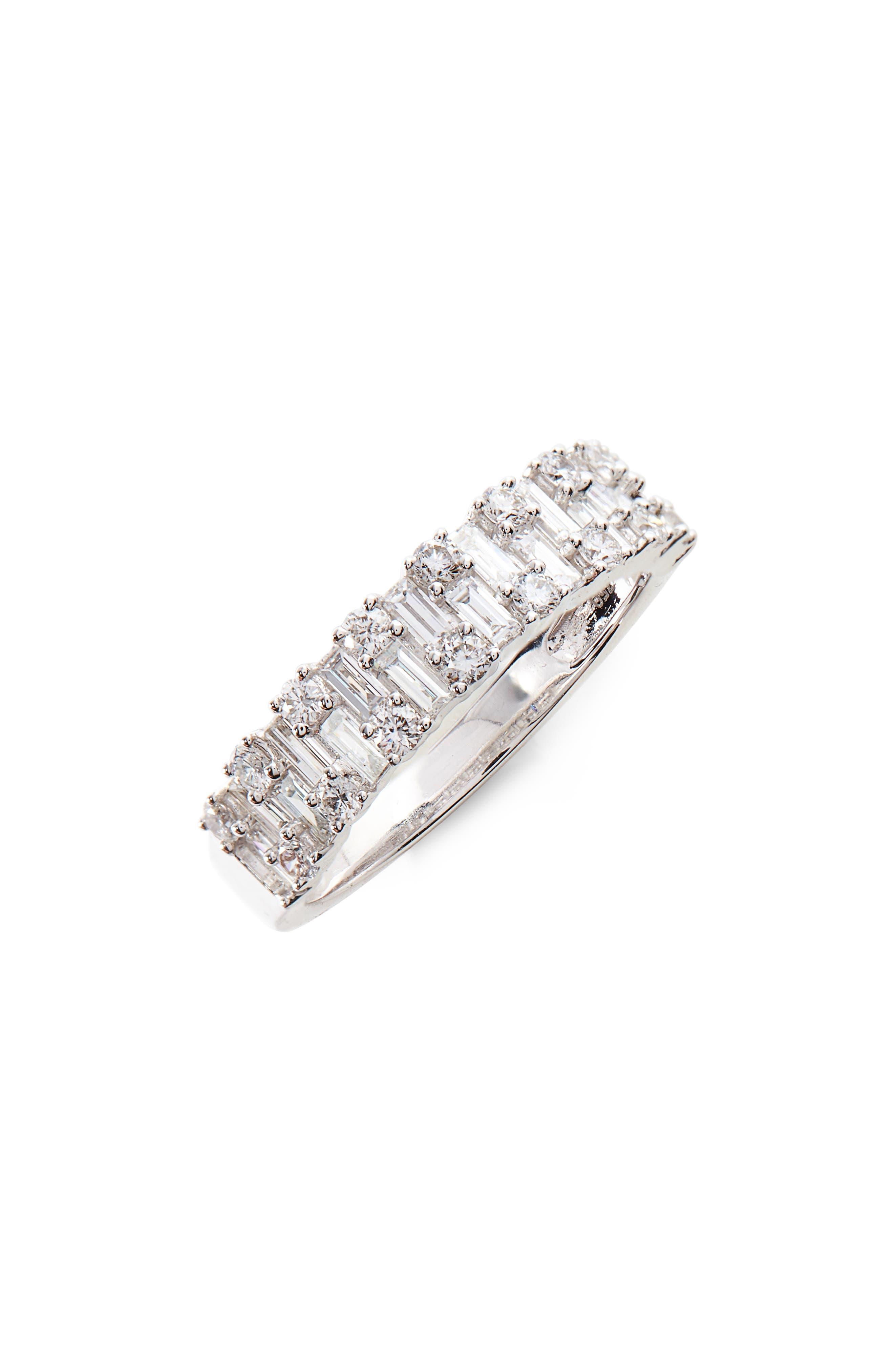 Multi Diamond Ring,                             Main thumbnail 1, color,                             WHITE GOLD