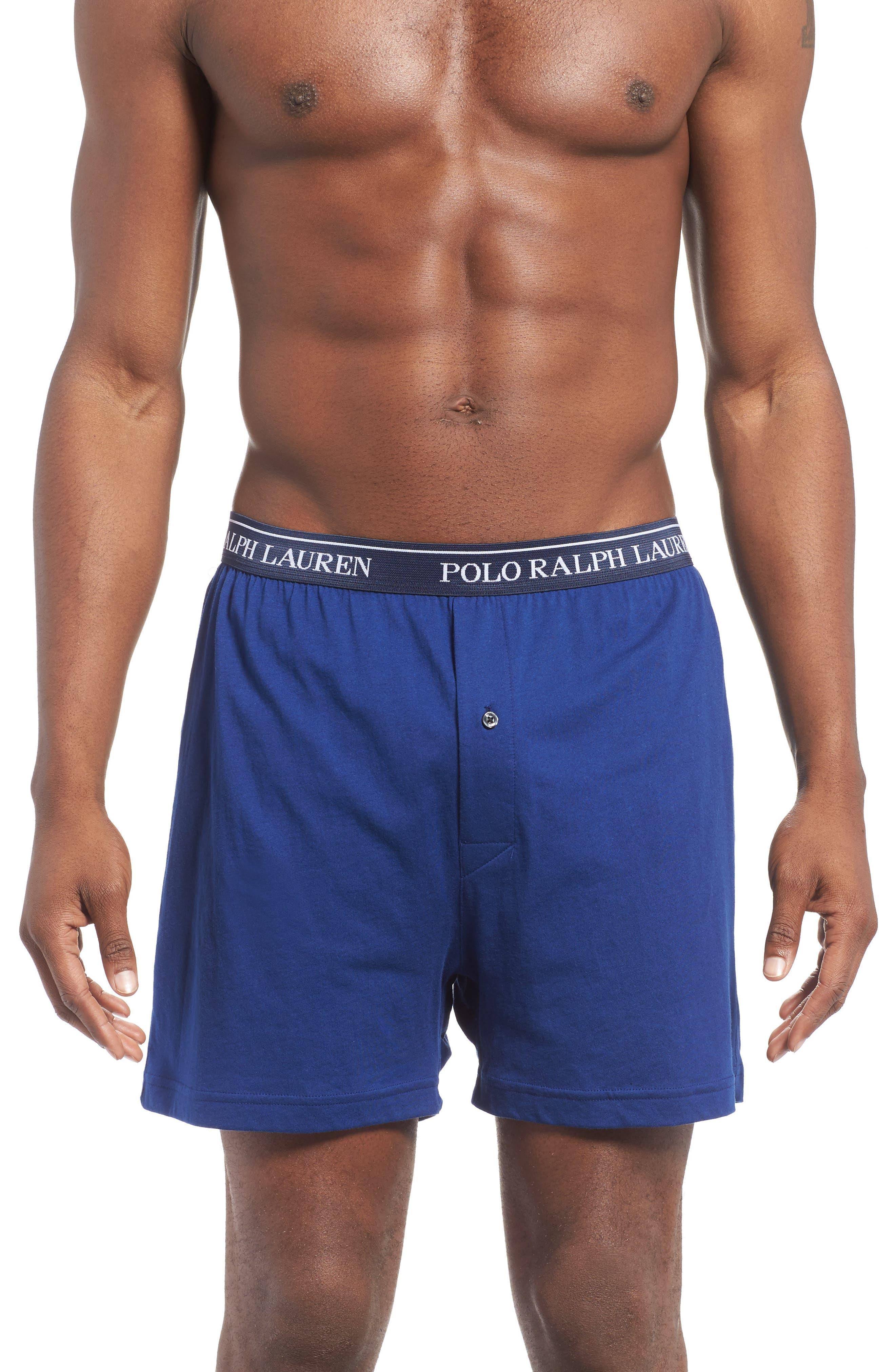 5-Pack Cotton Boxers,                             Alternate thumbnail 2, color,                             BLUE/ ROYAL BLUE/ NAVY