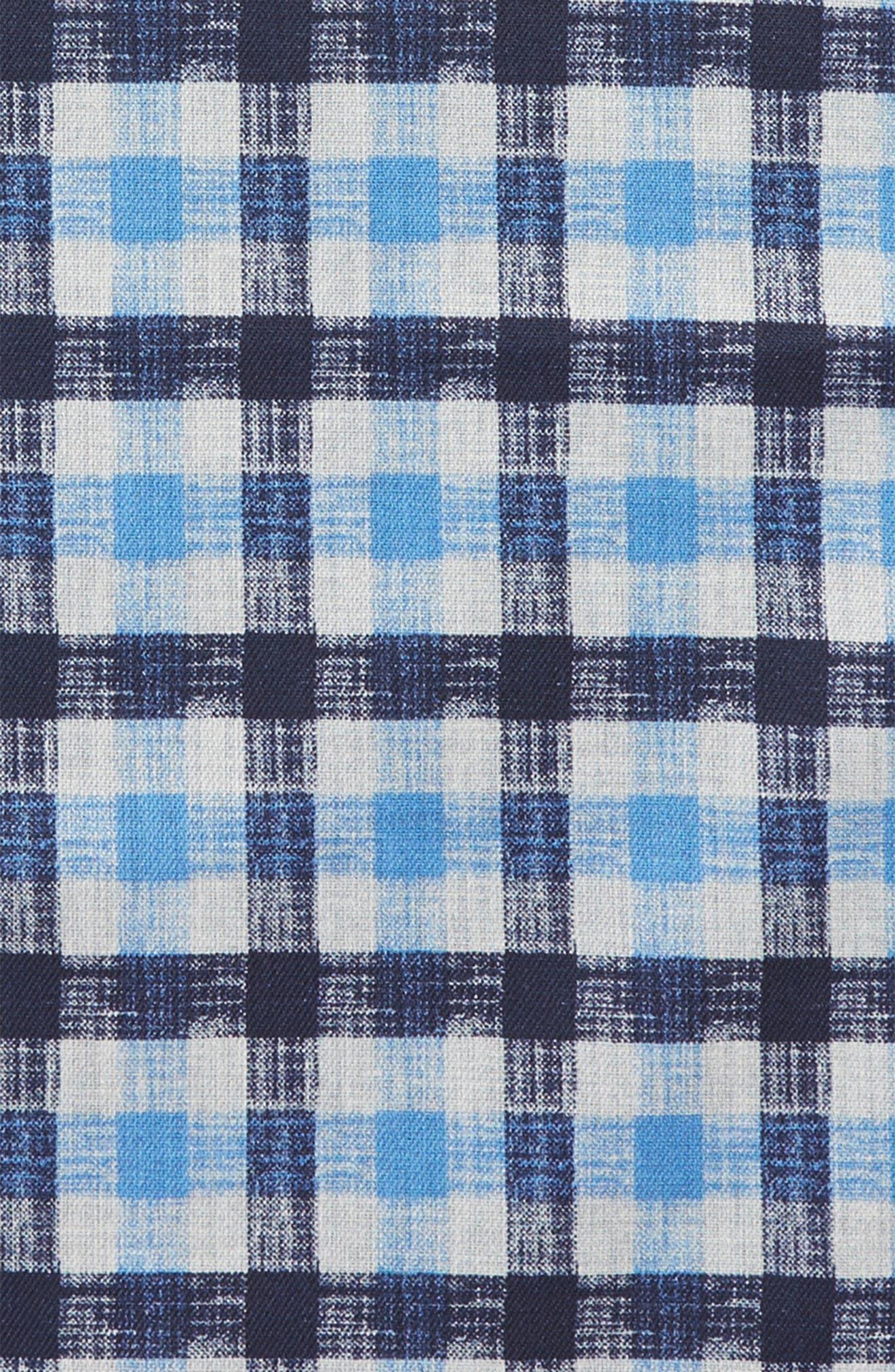 NORDSTROM MEN'S SHOP,                             Check Silk Pocket Square,                             Alternate thumbnail 3, color,                             400