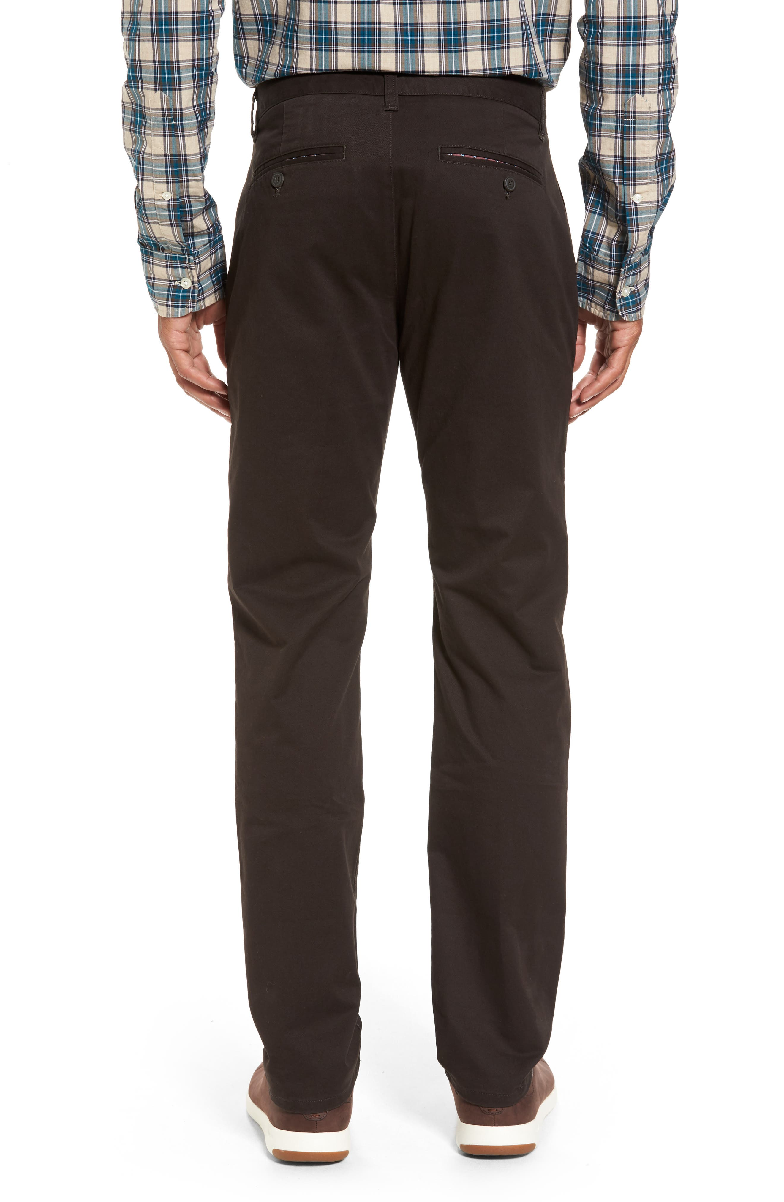Tailored Fit Washed Stretch Cotton Chinos,                             Alternate thumbnail 38, color,