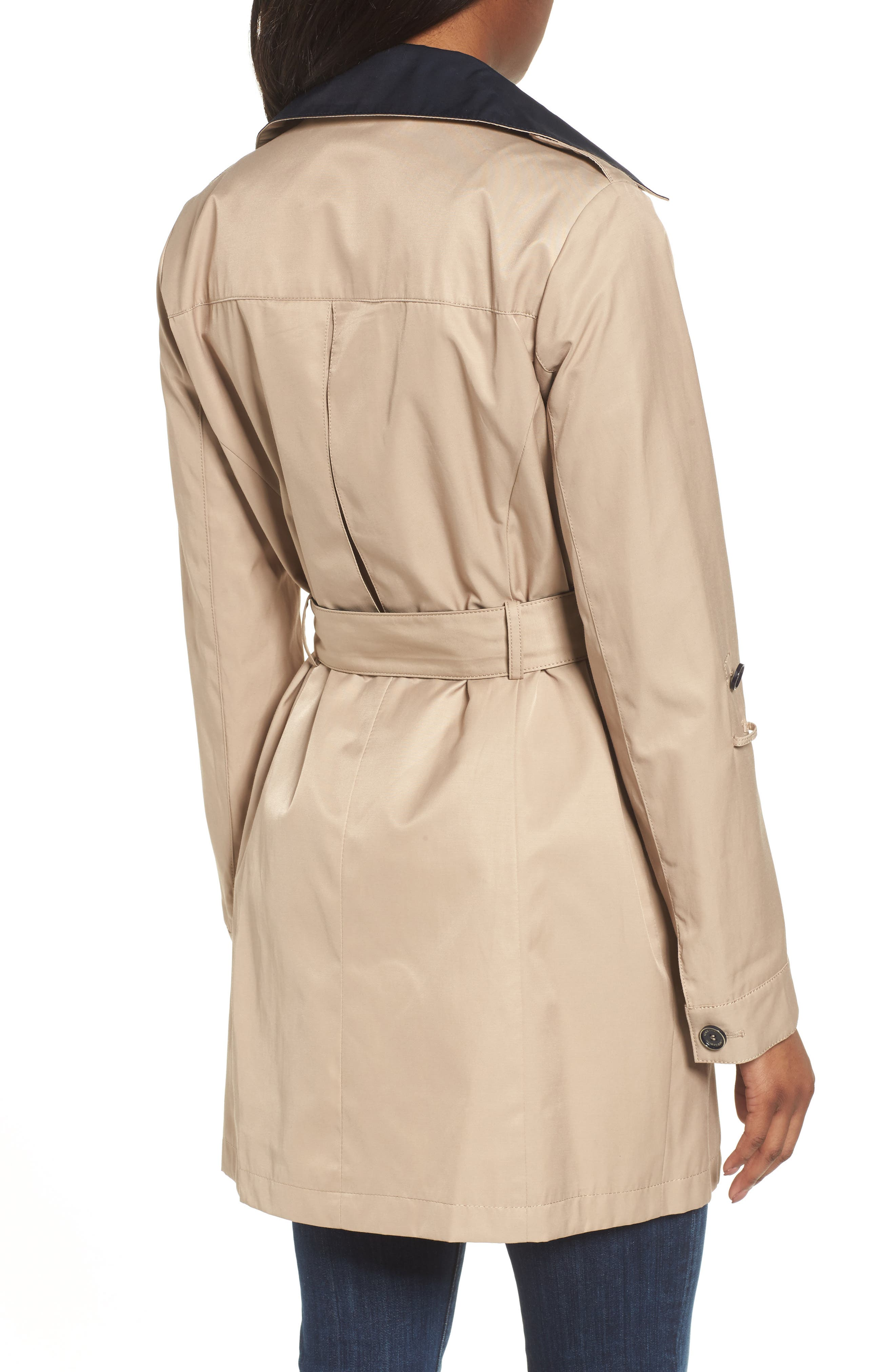 Contrast Collar Trench Coat,                             Alternate thumbnail 2, color,                             259
