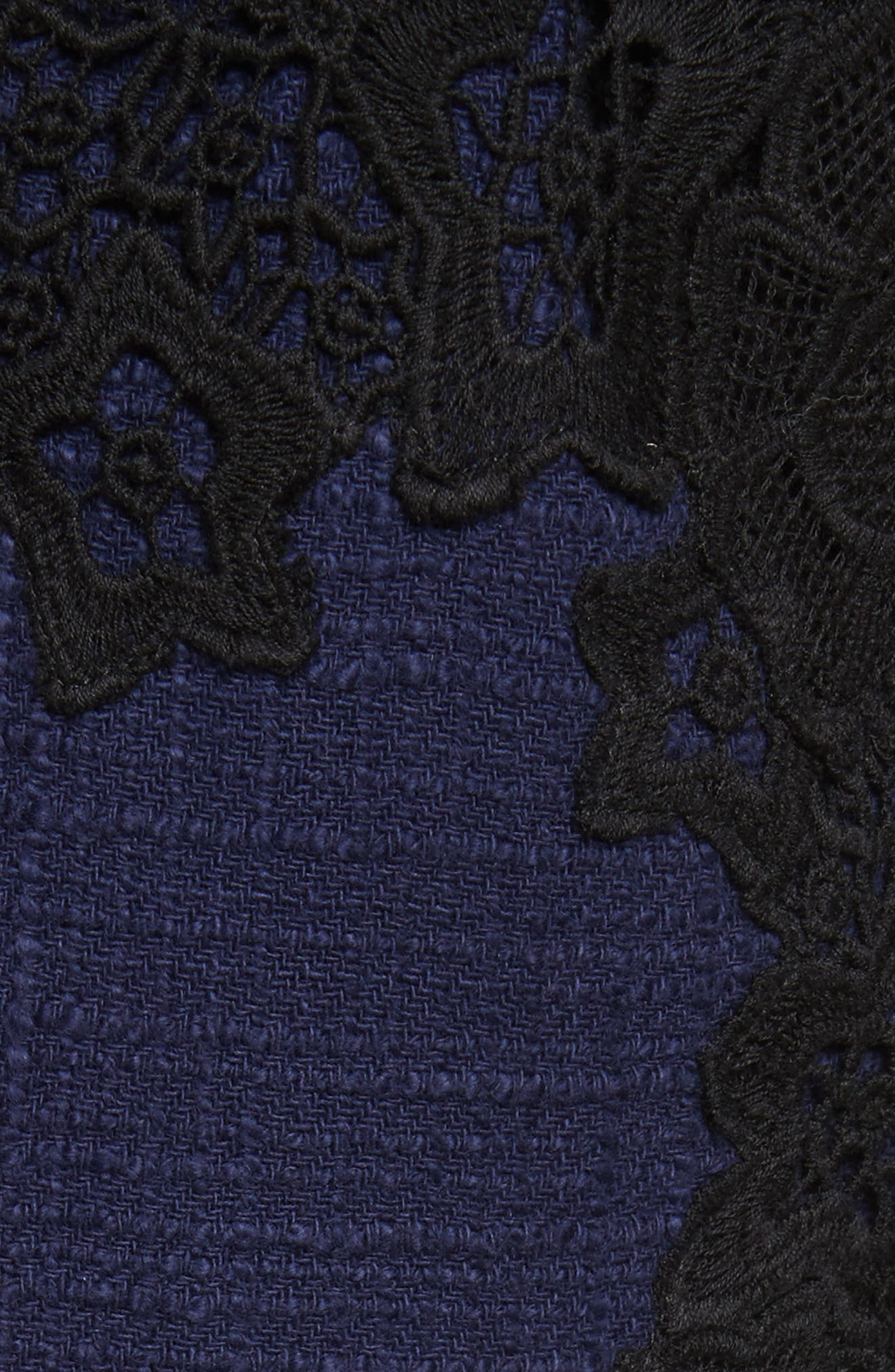 Tweed & Lace Dress,                             Alternate thumbnail 5, color,                             544