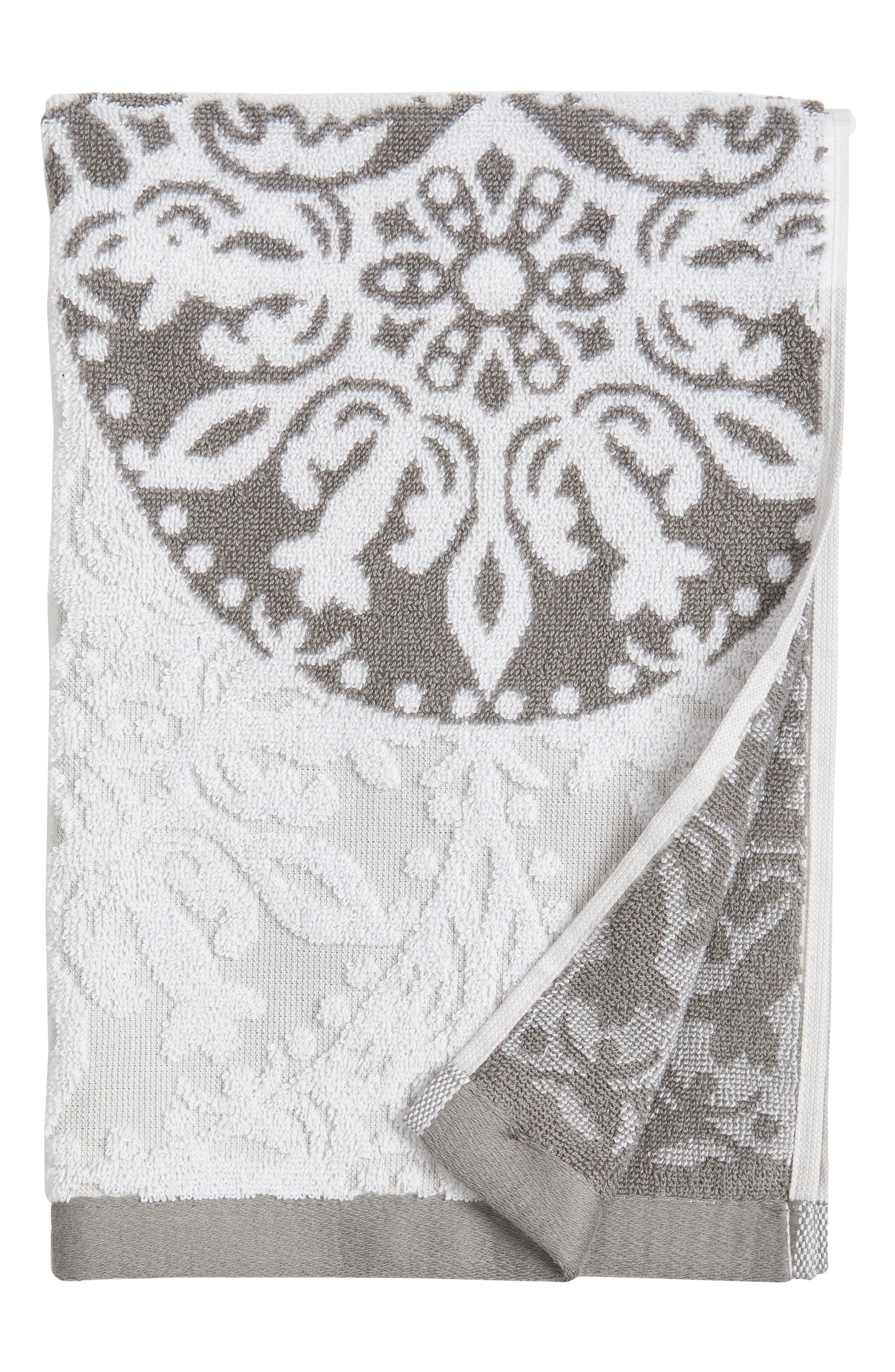 Fan Ombré Jacquard Hand Towel,                             Main thumbnail 1, color,                             020