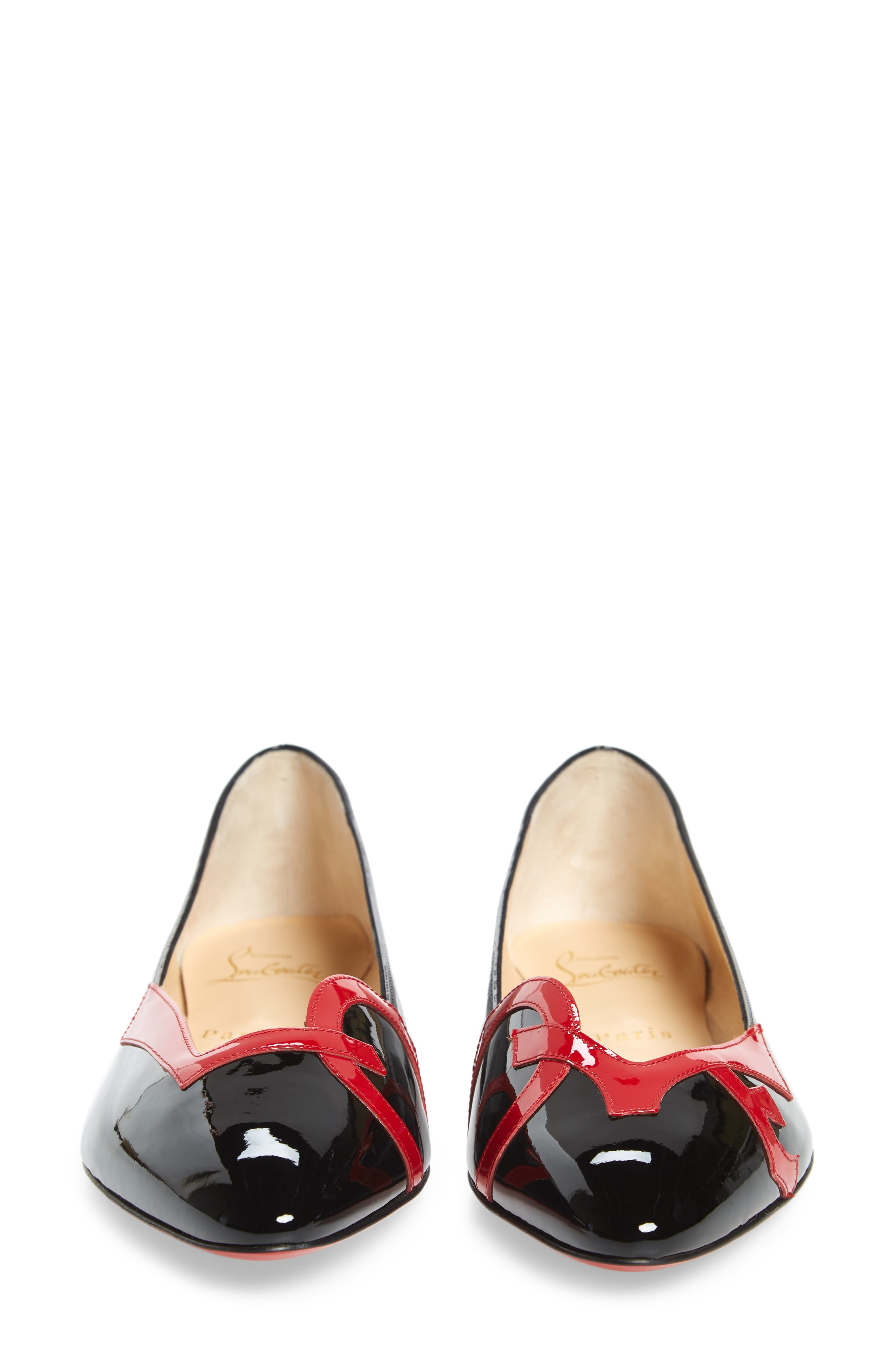 Love Ballet Flats,                             Alternate thumbnail 5, color,                             BLACK/ RED