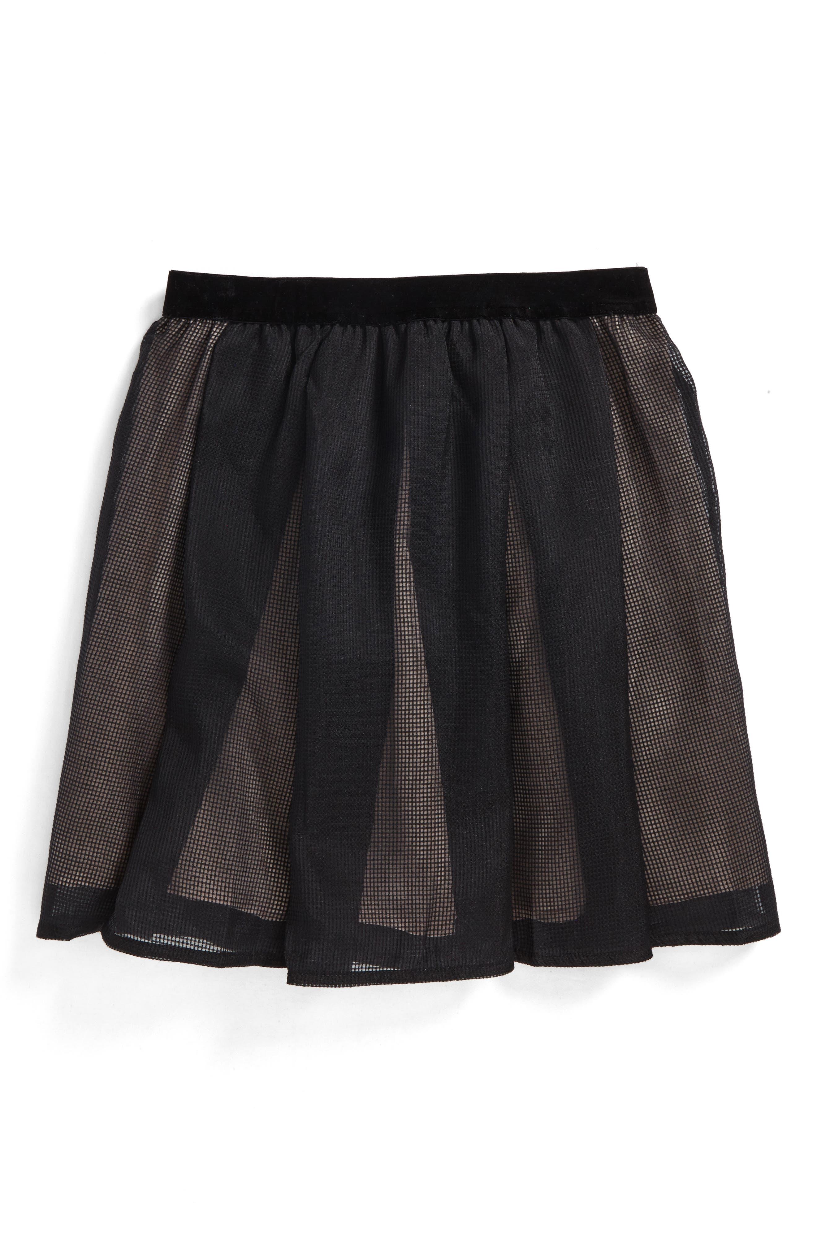 Blaire Mesh Skirt,                             Main thumbnail 1, color,                             001