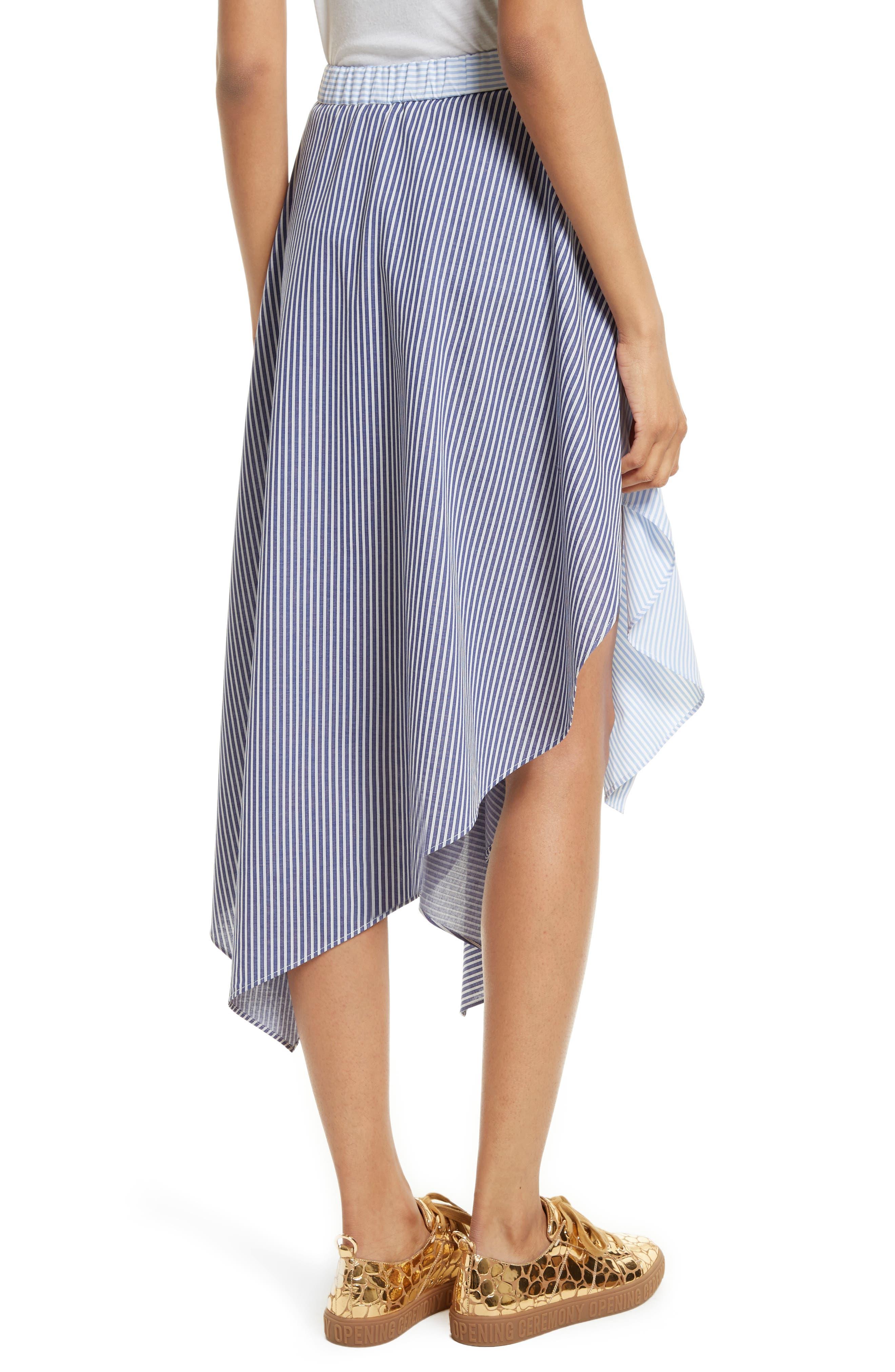 Cody Stripe Asymmetrical Skirt,                             Alternate thumbnail 2, color,