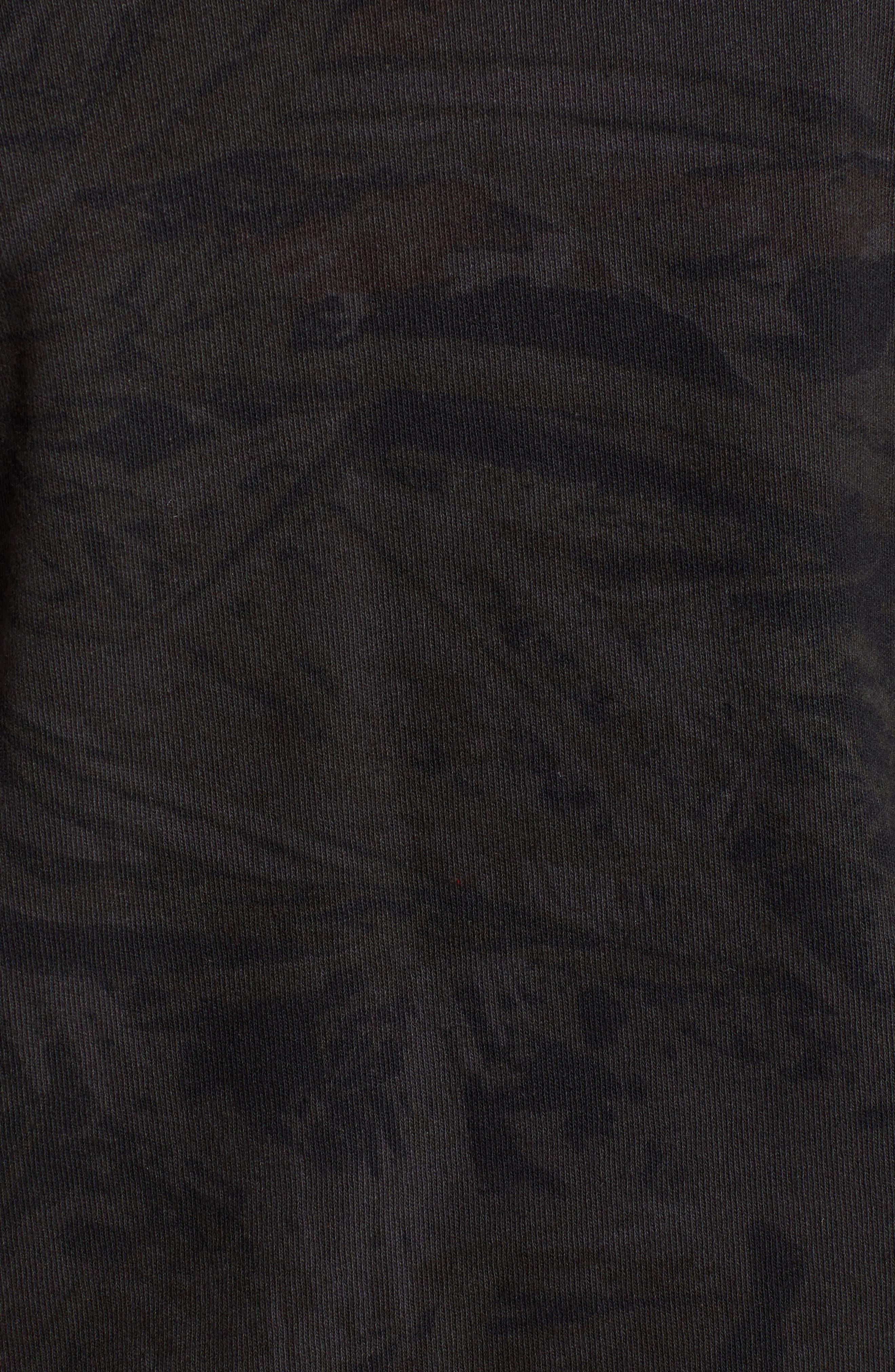 x Justin Timberlake Camo Long Sleeve T-Shirt,                             Alternate thumbnail 6, color,                             BLACK