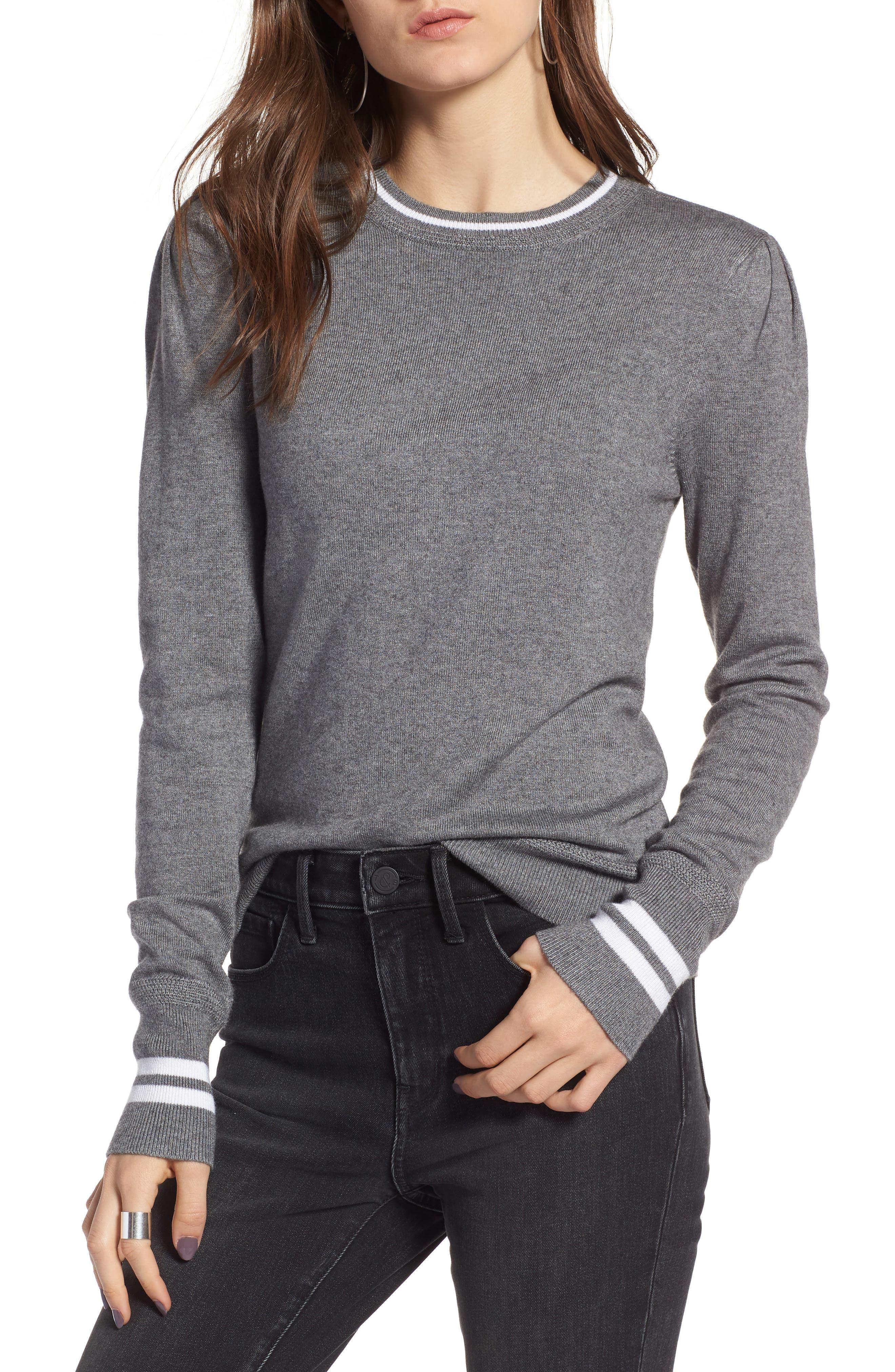 Sporty Stripe Sweater,                             Main thumbnail 1, color,                             021
