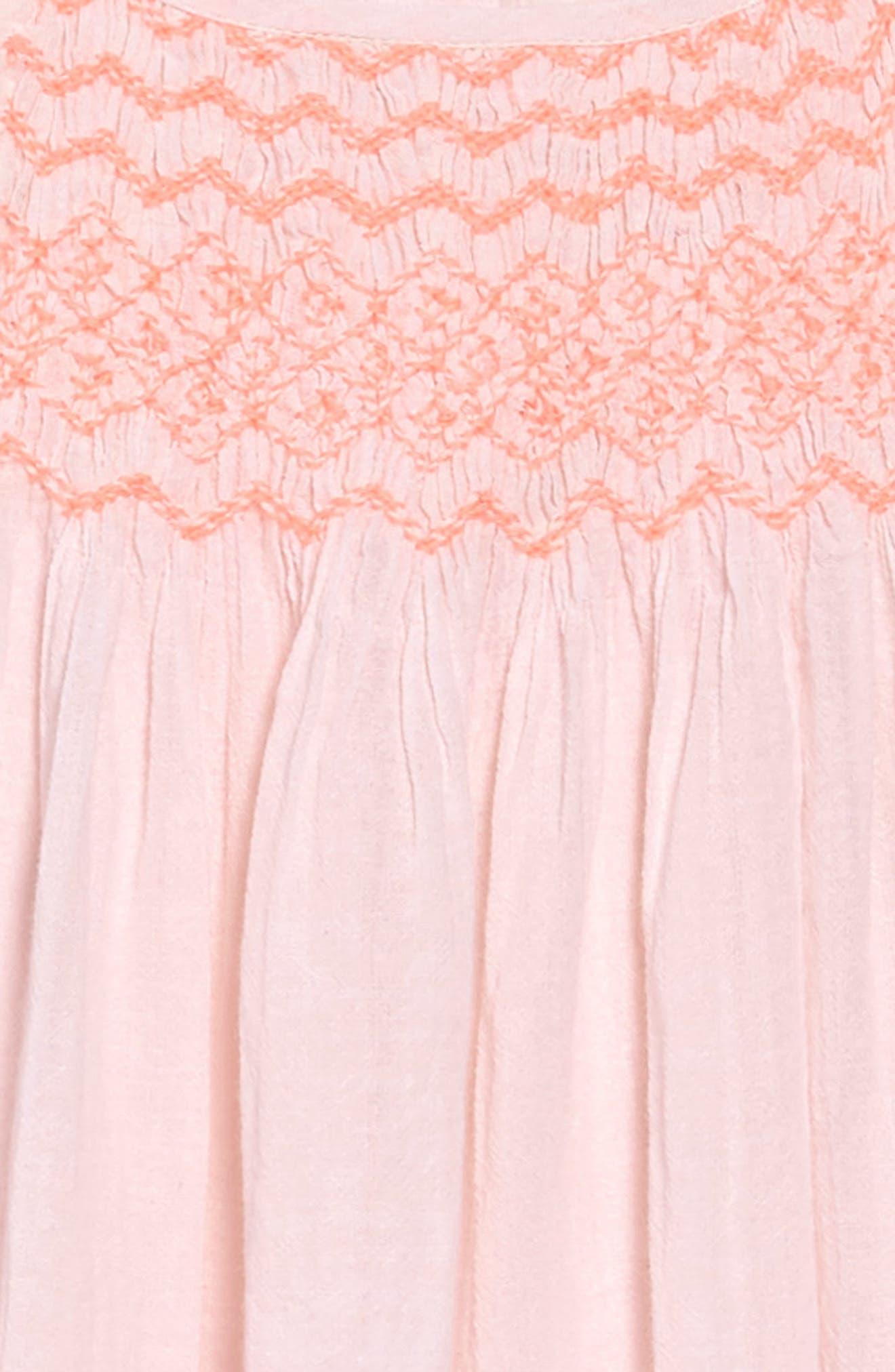 Neon Smocked Dress,                             Alternate thumbnail 3, color,                             680