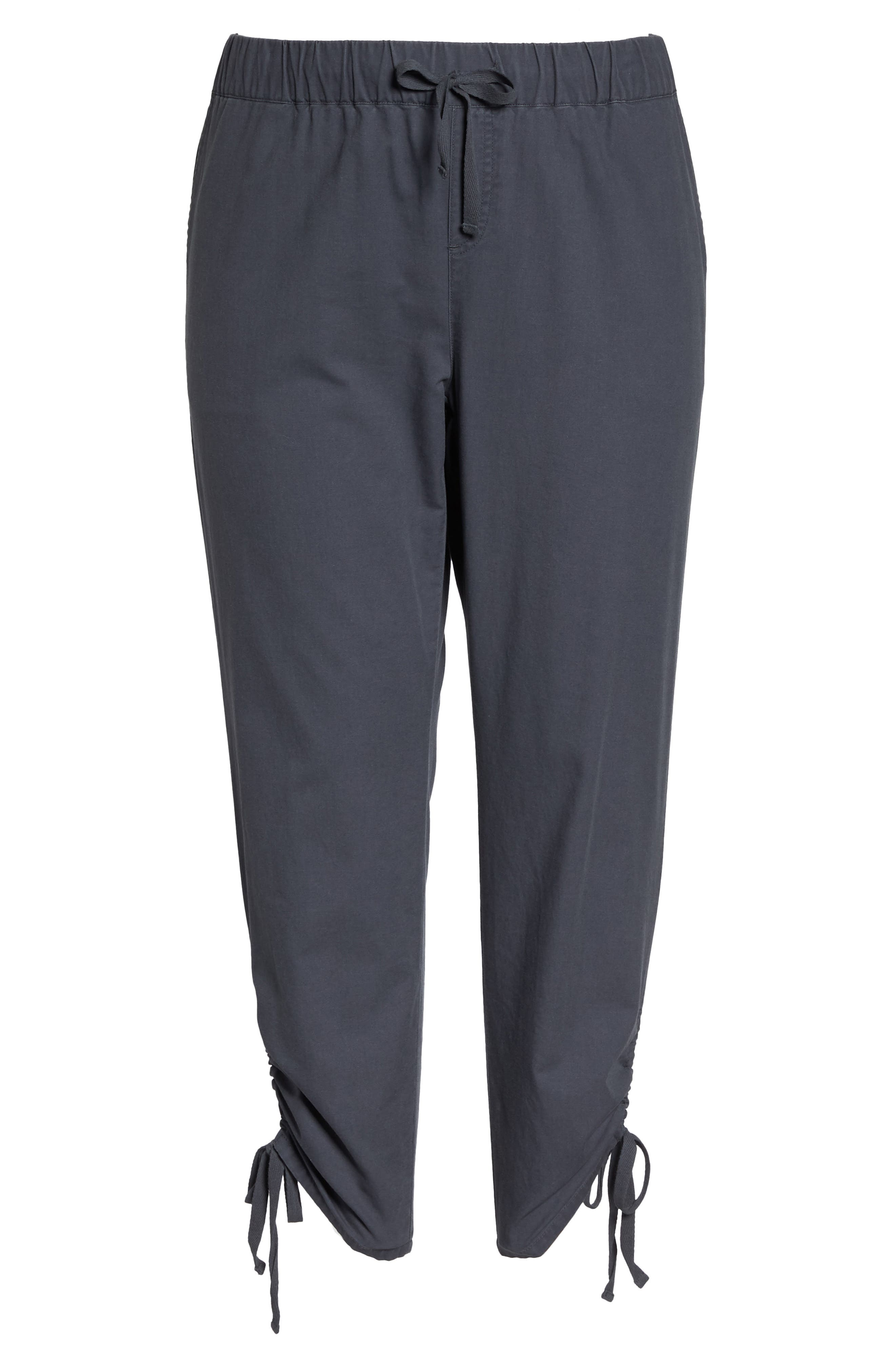 Side Ruched Ankle Pants,                             Alternate thumbnail 6, color,                             030