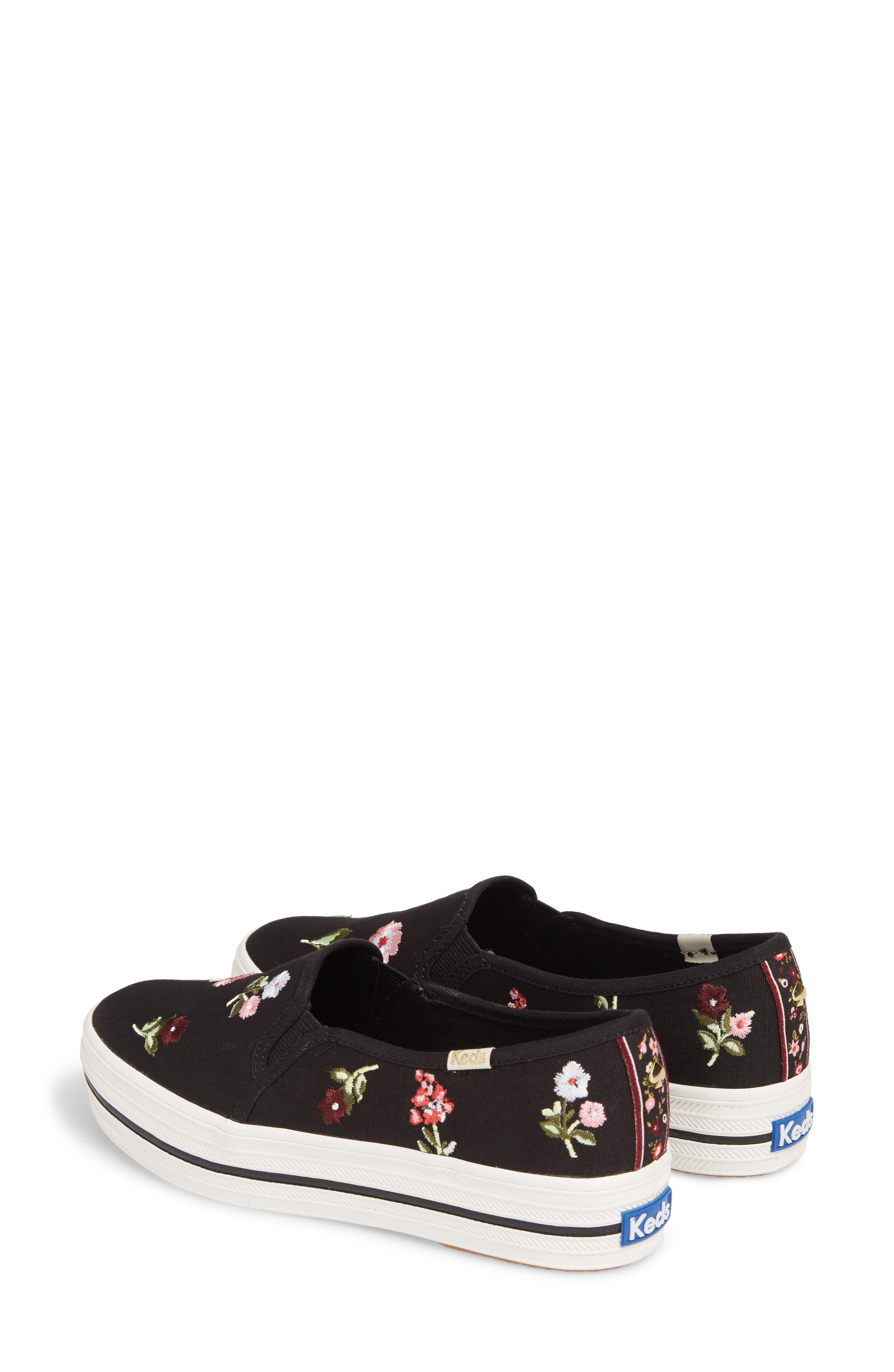 Keds<sup>®</sup> x kate spade Triple Decker Slip-On Sneaker,                             Alternate thumbnail 4, color,