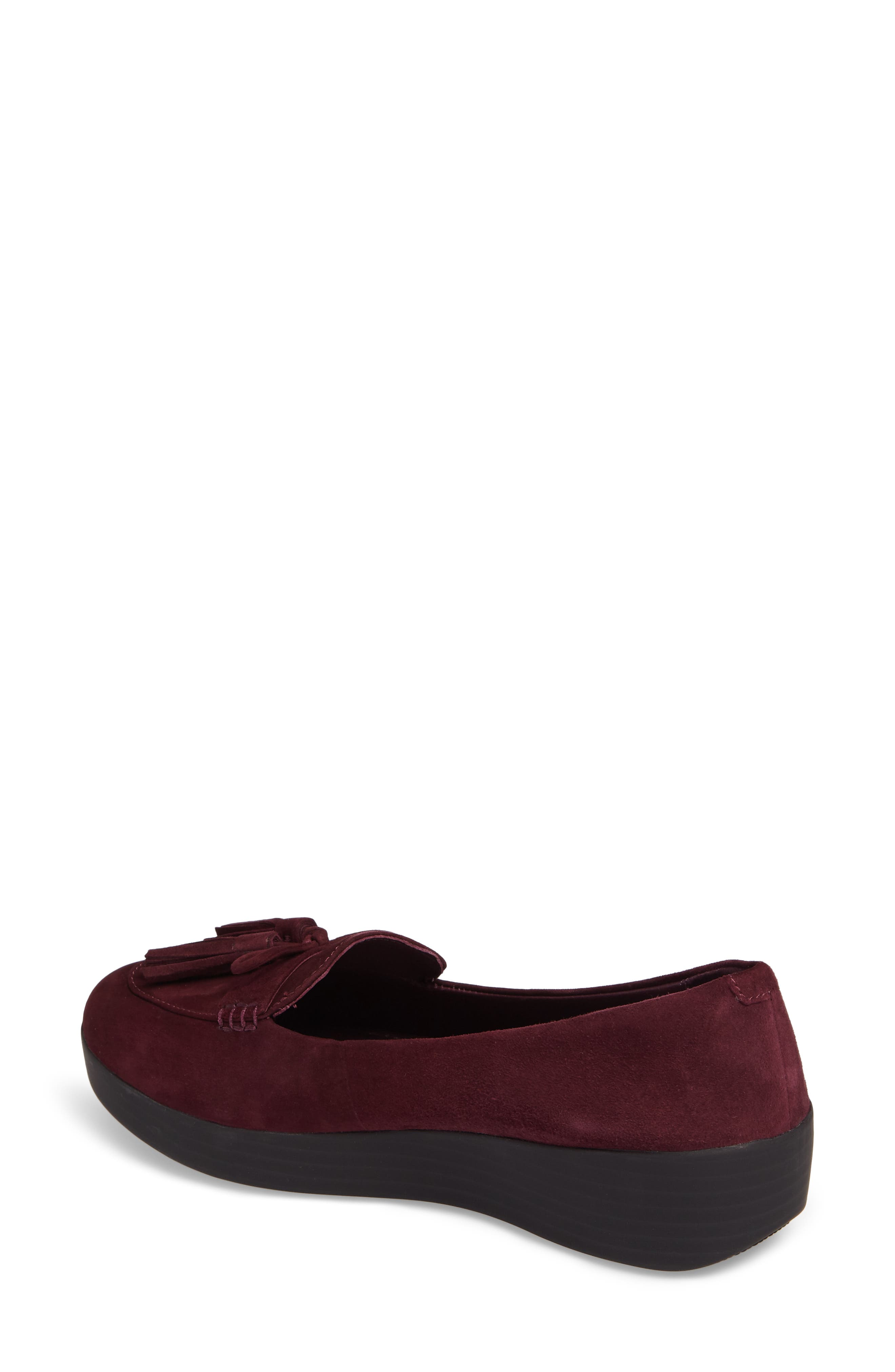 Tassel Bow Sneakerloafer<sup>™</sup> Water Repellent Flat,                             Alternate thumbnail 8, color,