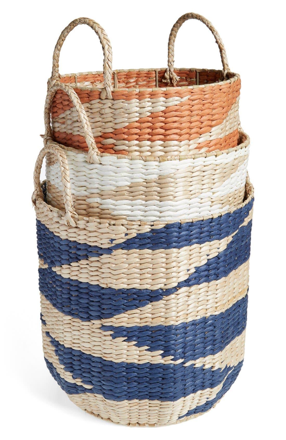 Diamond Straw Basket,                             Alternate thumbnail 2, color,                             100