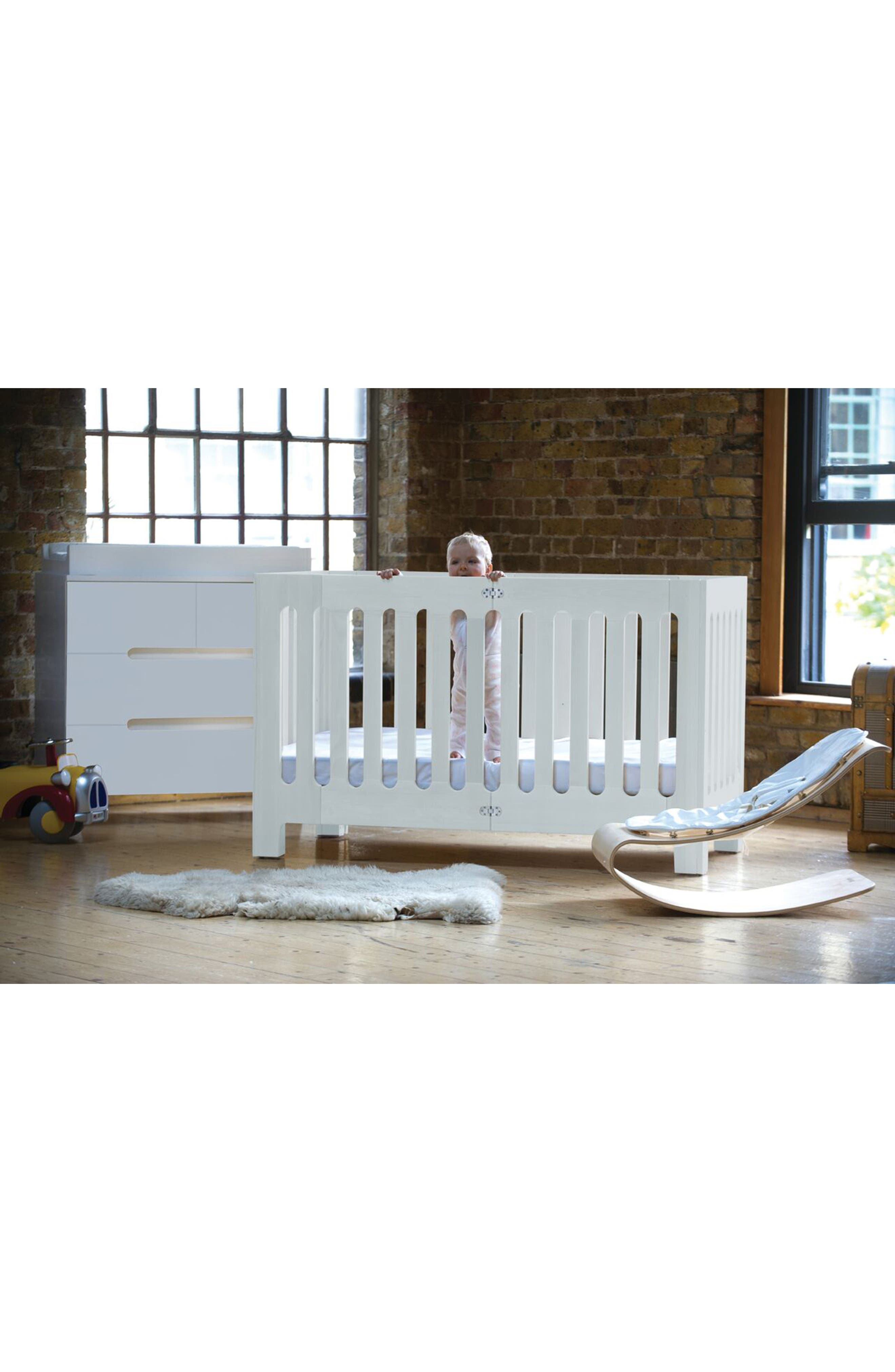 Baby Alma Max Standard Size Solid Wood Crib,                             Alternate thumbnail 4, color,                             COCONUT WHITE