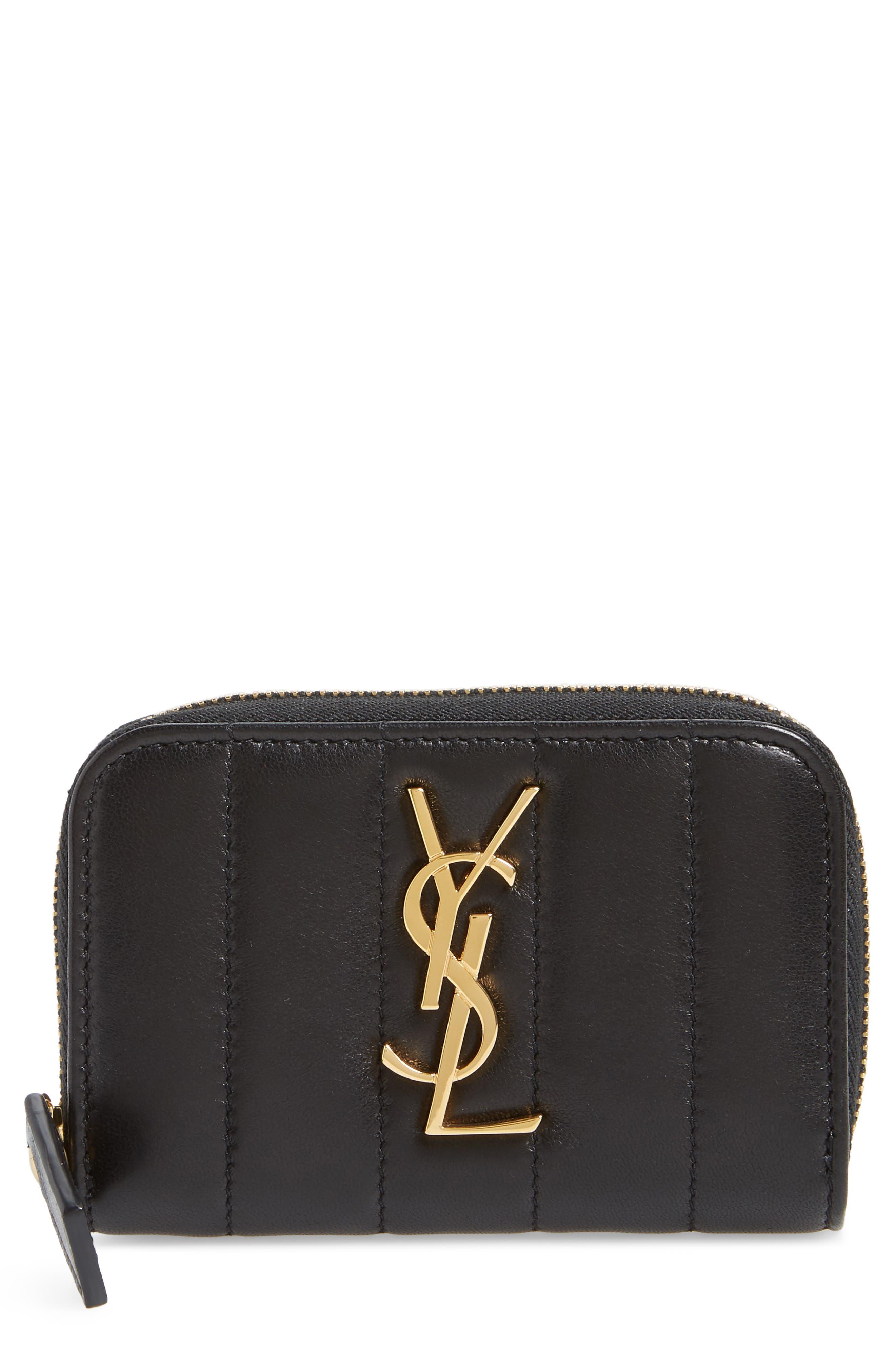 Vicky Zip Around Card Wallet,                         Main,                         color, NOIR