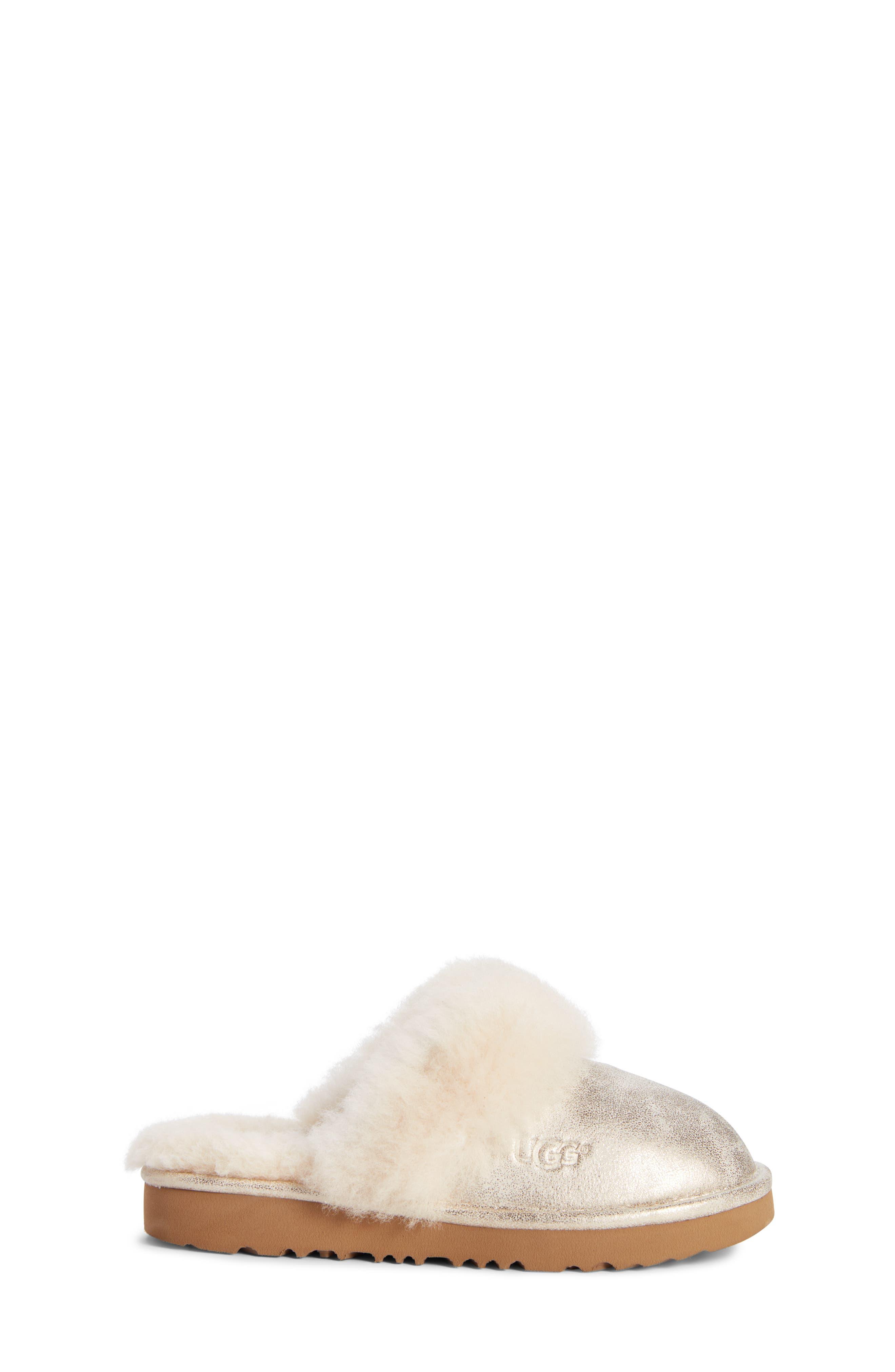 Cozy II Metallic Genuine Shearling Scuff Slipper,                             Alternate thumbnail 3, color,                             710