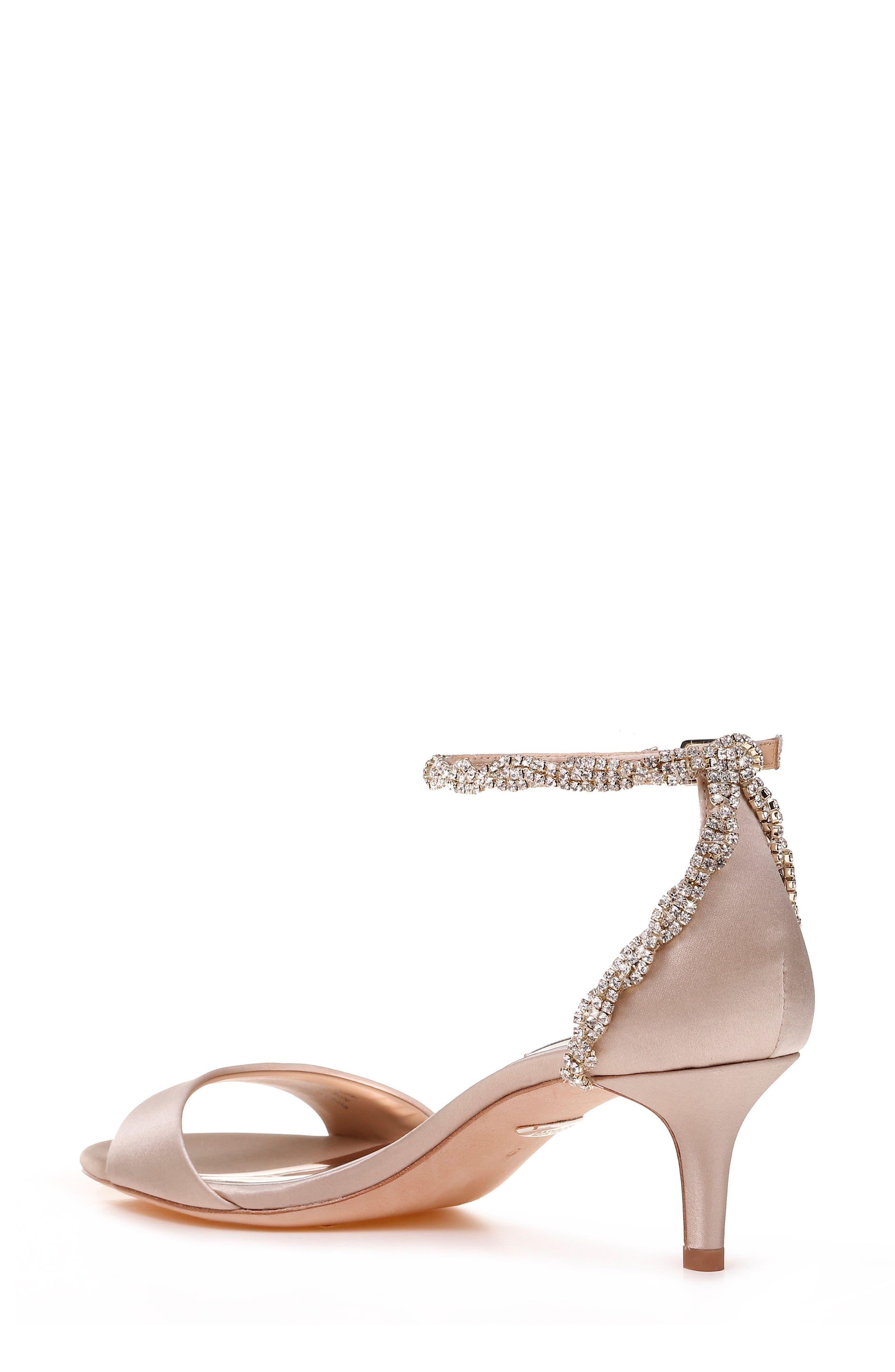 Yareli Crystal Embellished Sandal,                             Alternate thumbnail 2, color,                             NUDE SATIN