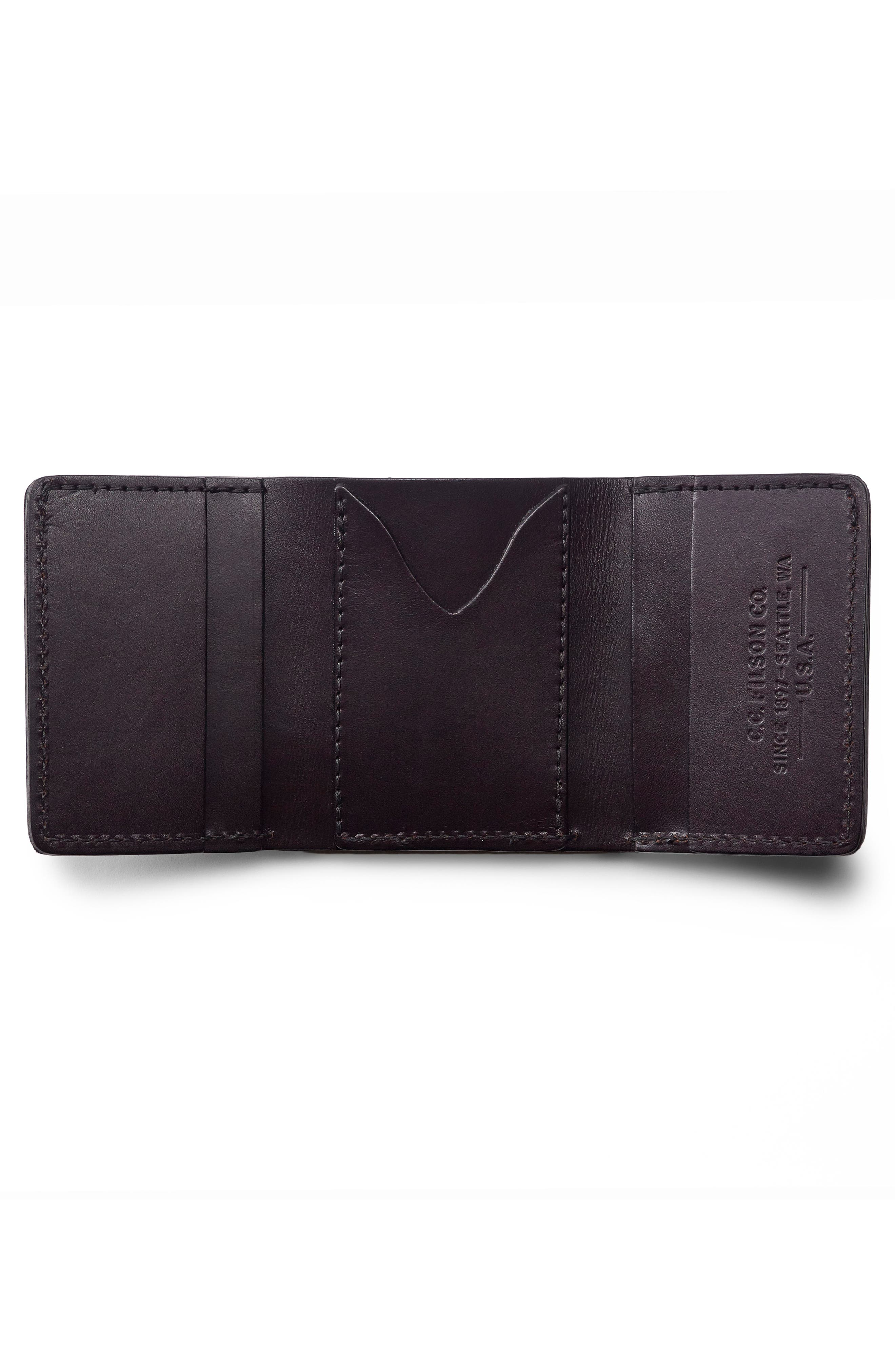 Leather Trifold Leather Wallet,                             Alternate thumbnail 7, color,