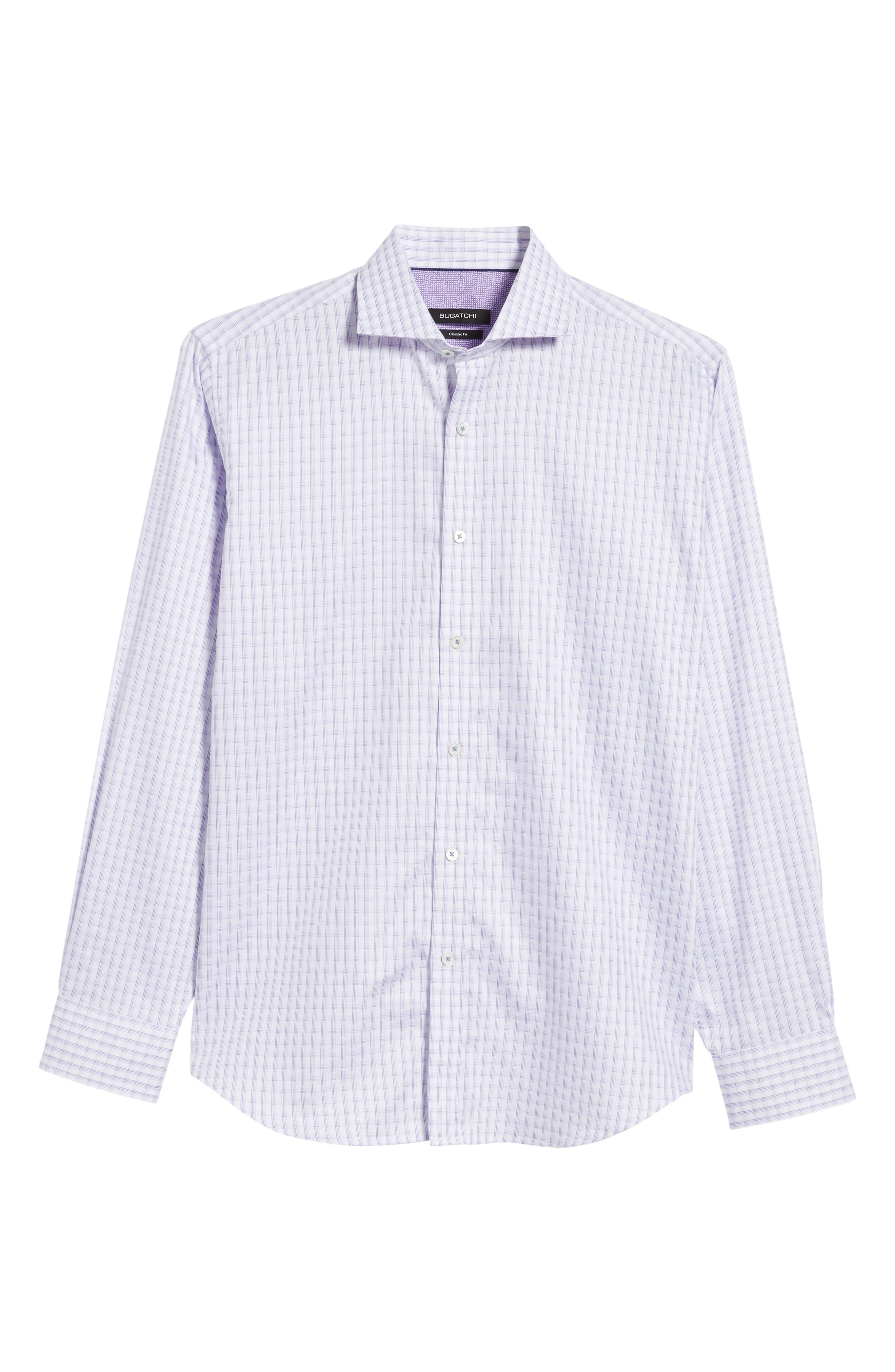 Modern Check Classic Fit Sport Shirt,                             Alternate thumbnail 6, color,                             LILAC