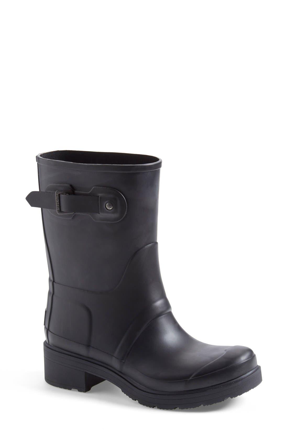 'Original' Waterproof Ankle Rain Boot, Main, color, 001