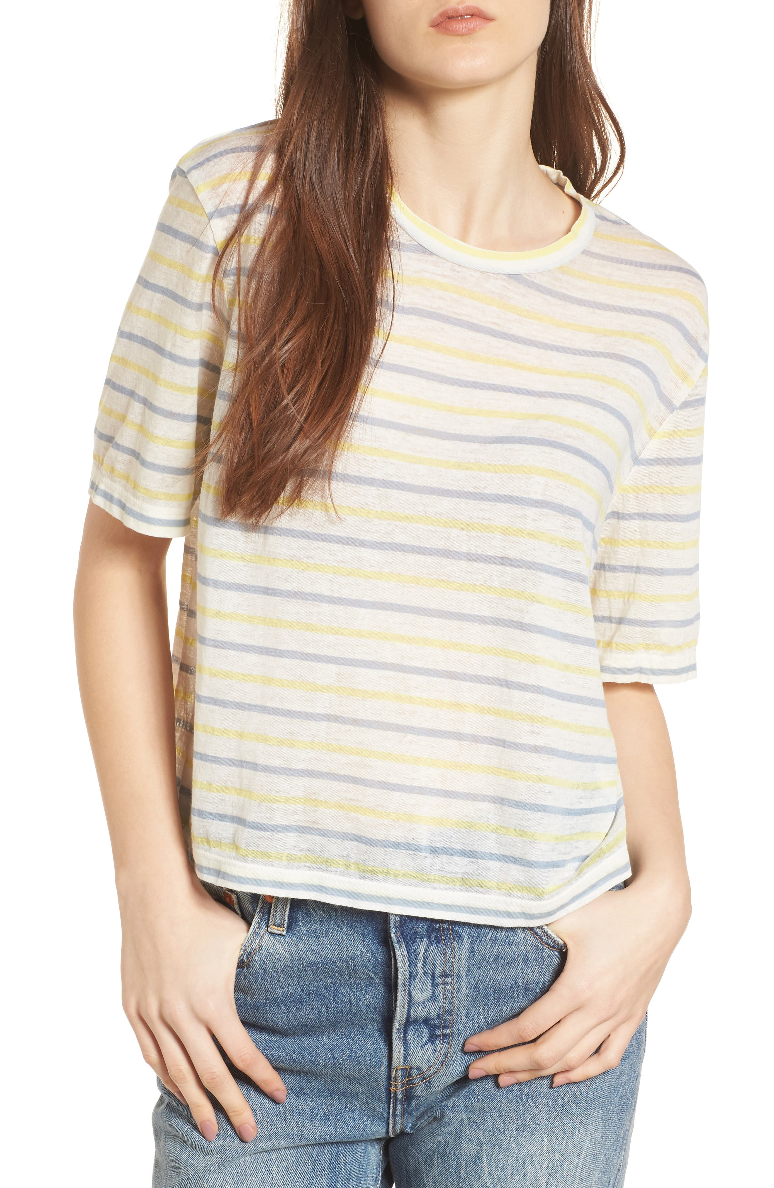 Stripe Baby Tee,                             Main thumbnail 1, color,                             450