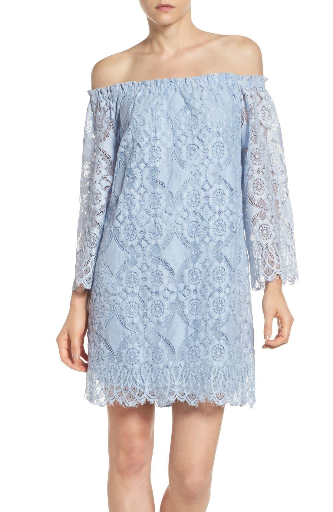 Halden A-Line Dress, Main, color, 460