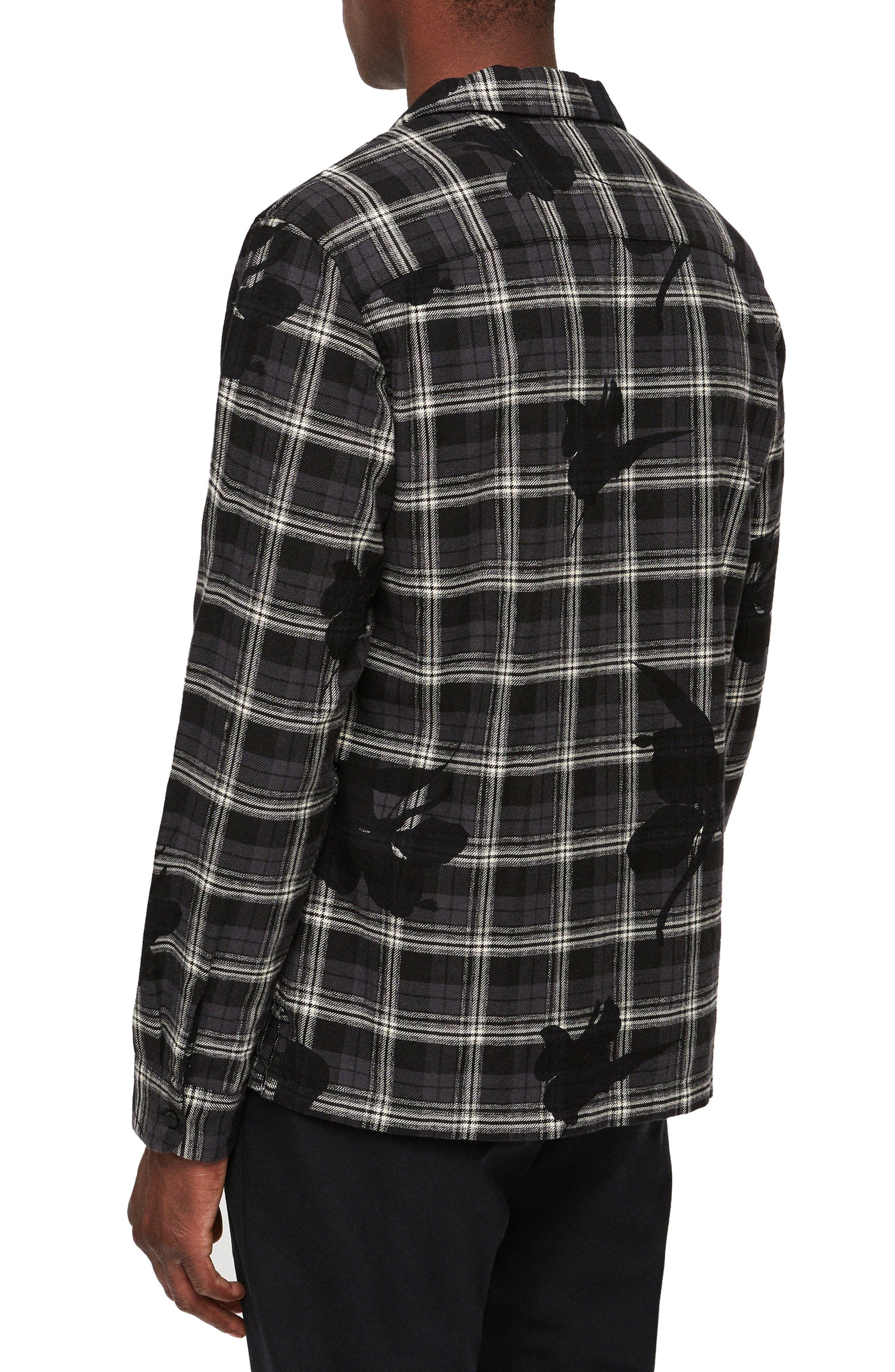 Lilyplaid Slim Fit Flannel Shirt,                             Alternate thumbnail 3, color,                             001