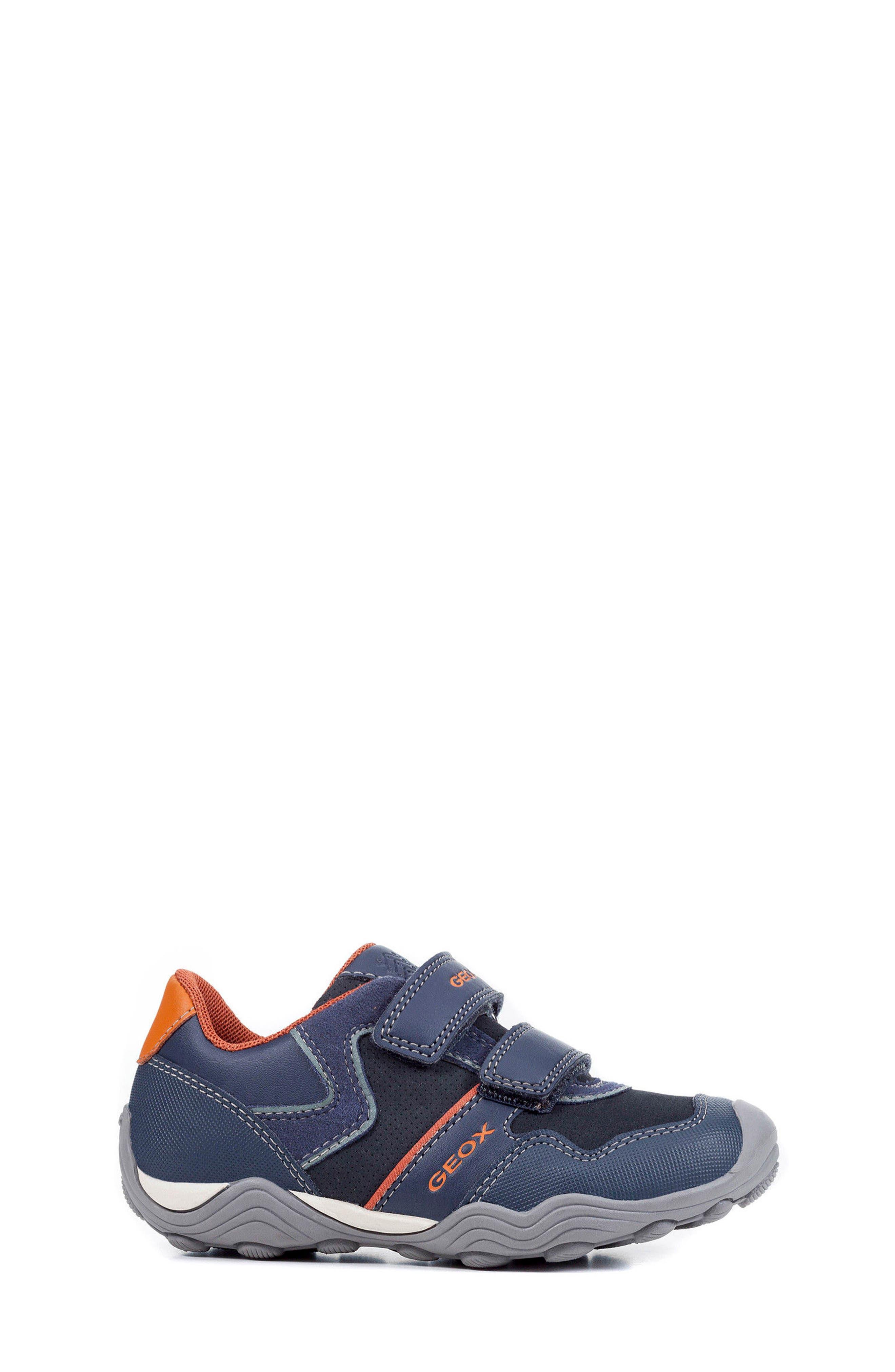 Jr Arno 13 Sneaker,                             Alternate thumbnail 3, color,                             NAVY/ DARK ORANGE