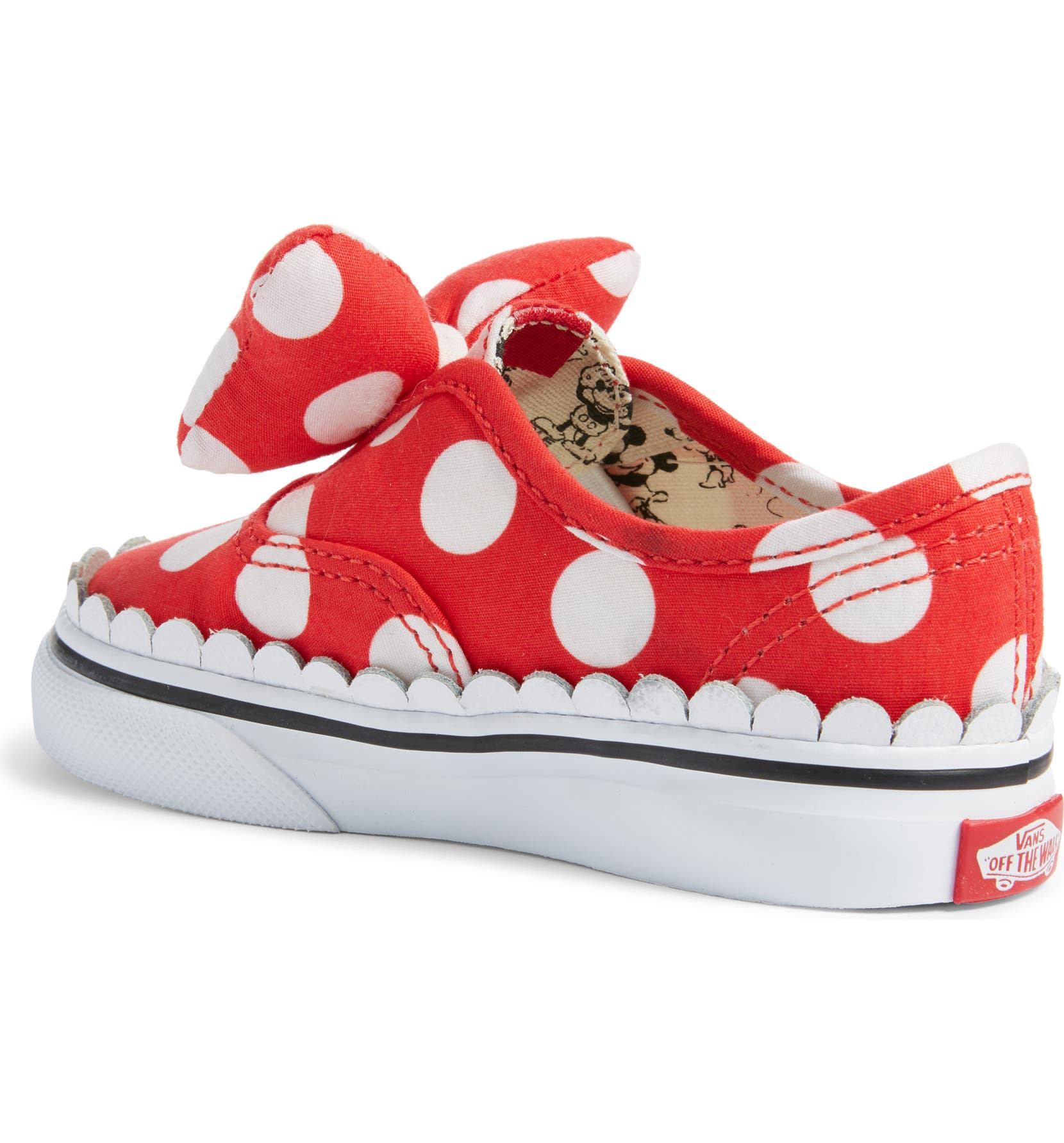 be4abb3c621 Vans x Disney Authentic Gore Minnie Mouse Bow Slip-On Sneaker (Baby ...