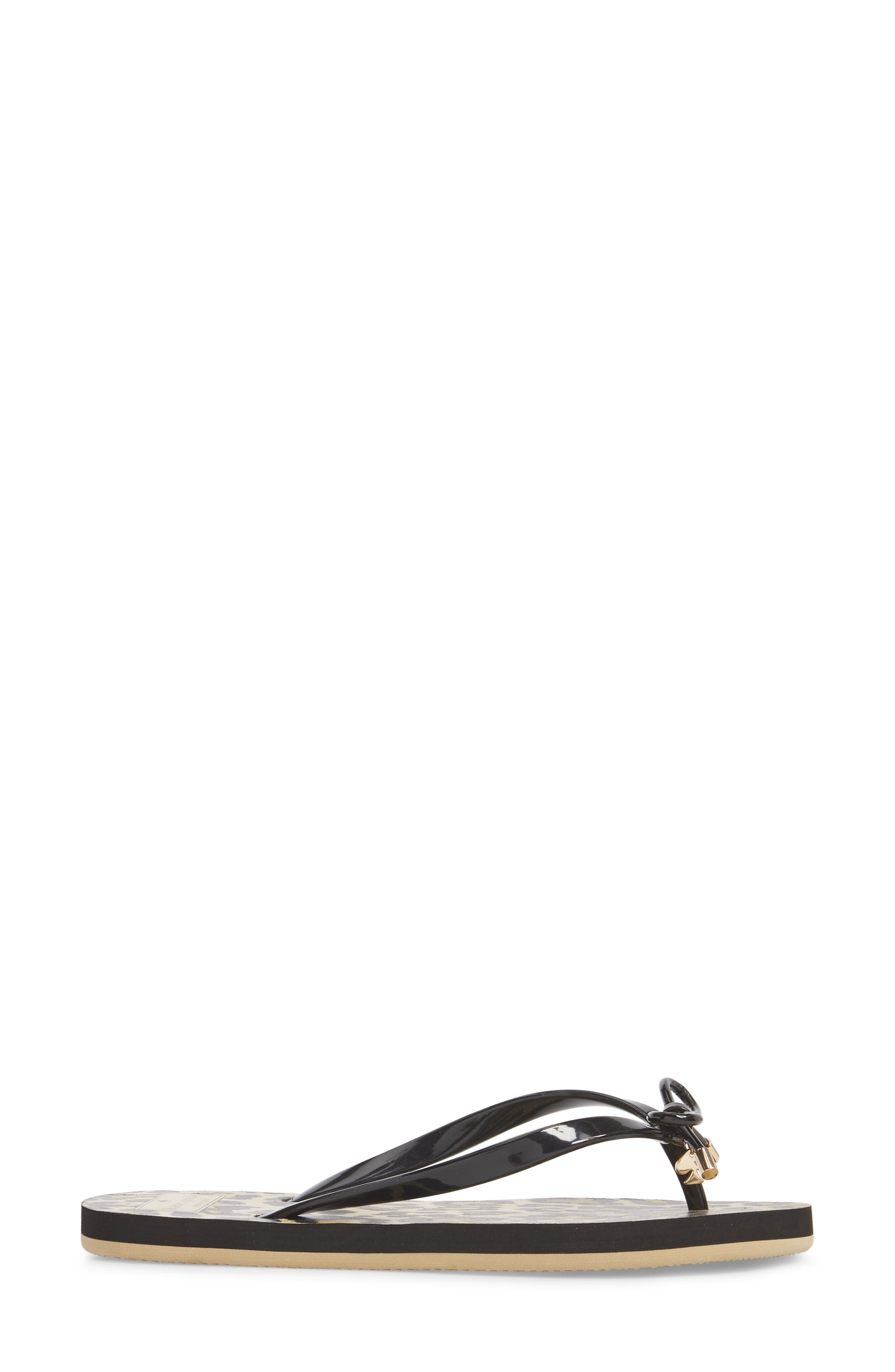 'nova' flip flop,                             Alternate thumbnail 3, color,                             BLACK LEOPARD PRINT