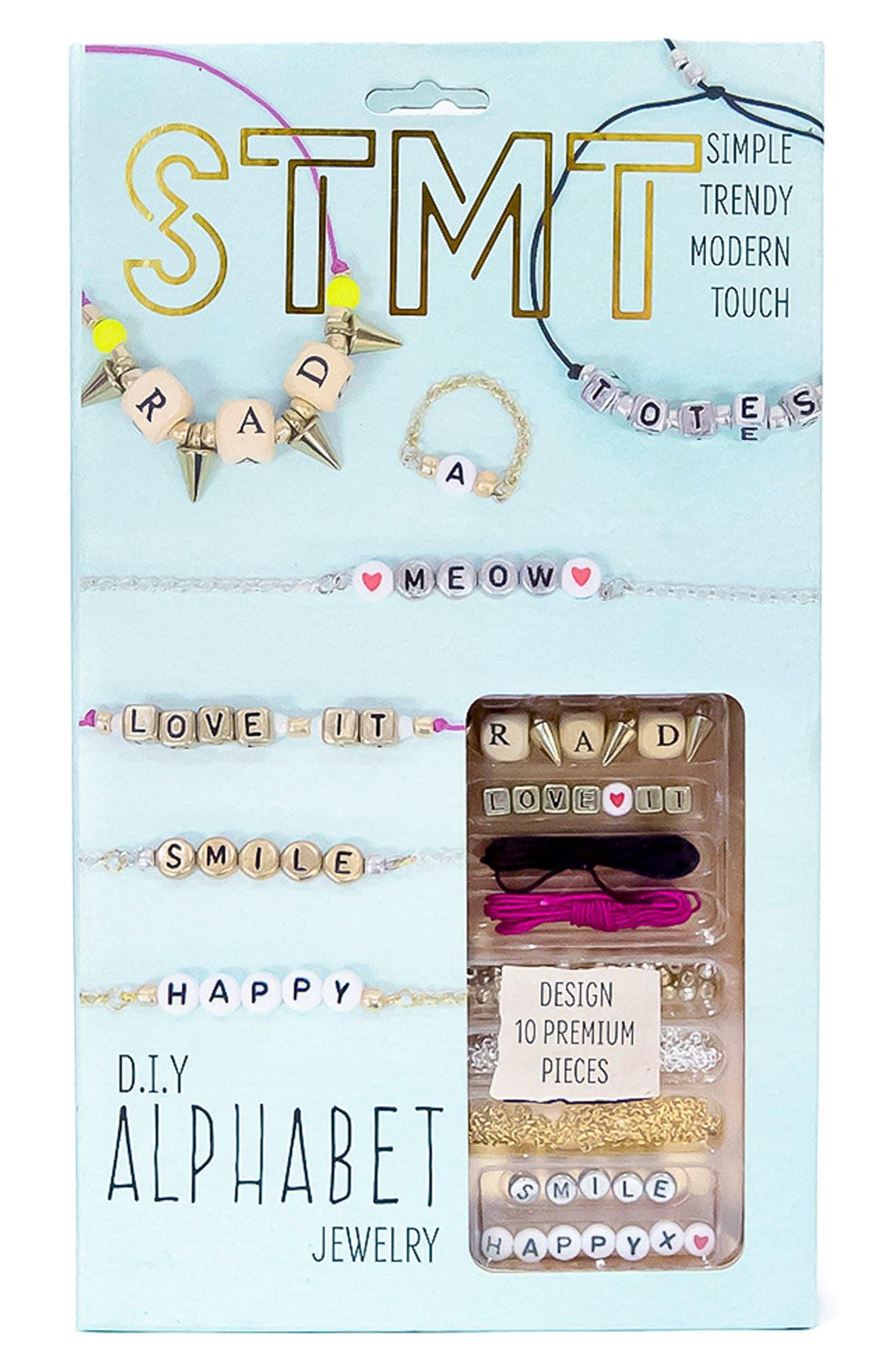 DIY Alphabet Jewelry Kit,                         Main,                         color, 400
