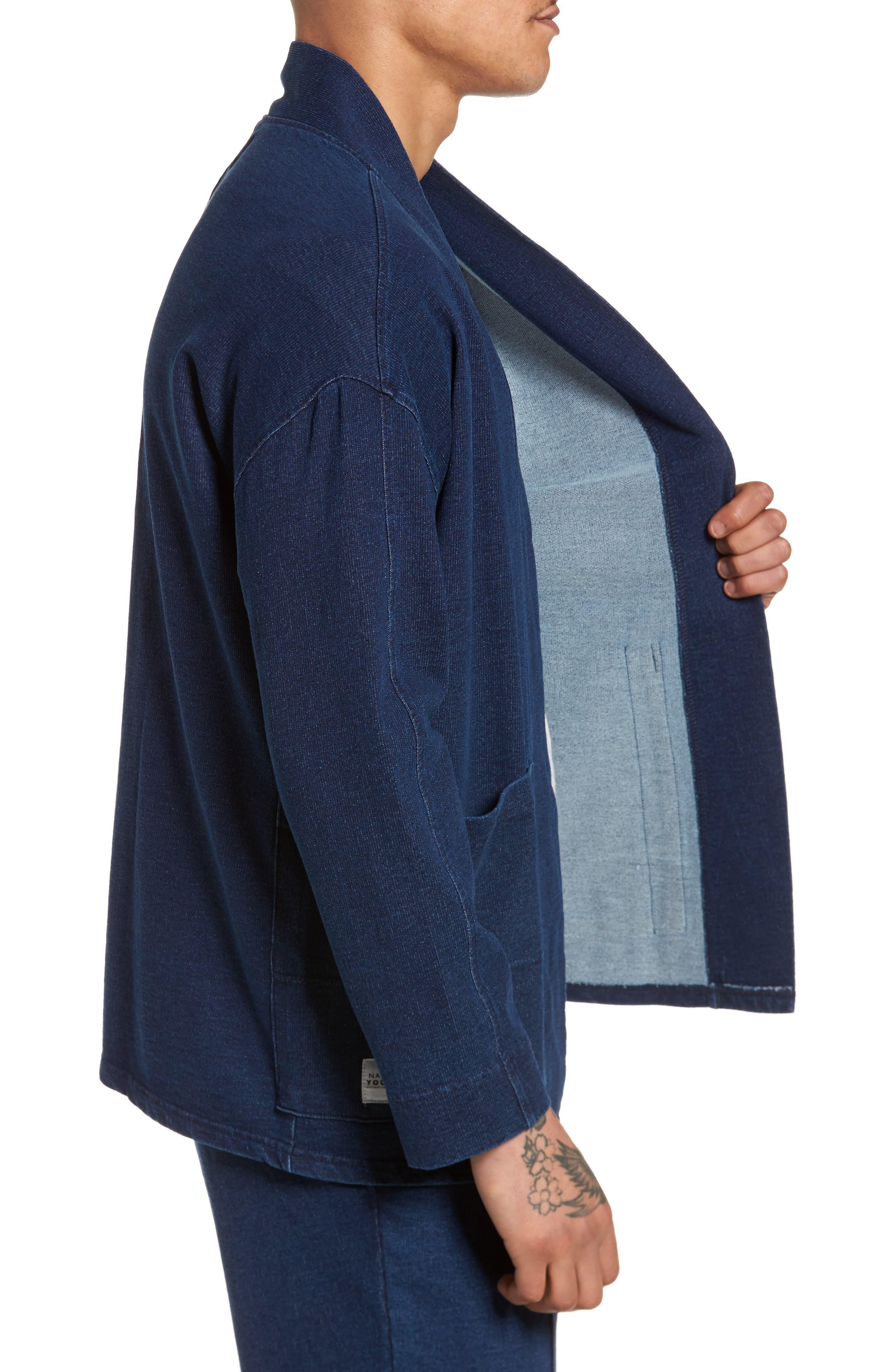 Marine Kimono Jacket,                             Alternate thumbnail 3, color,                             400