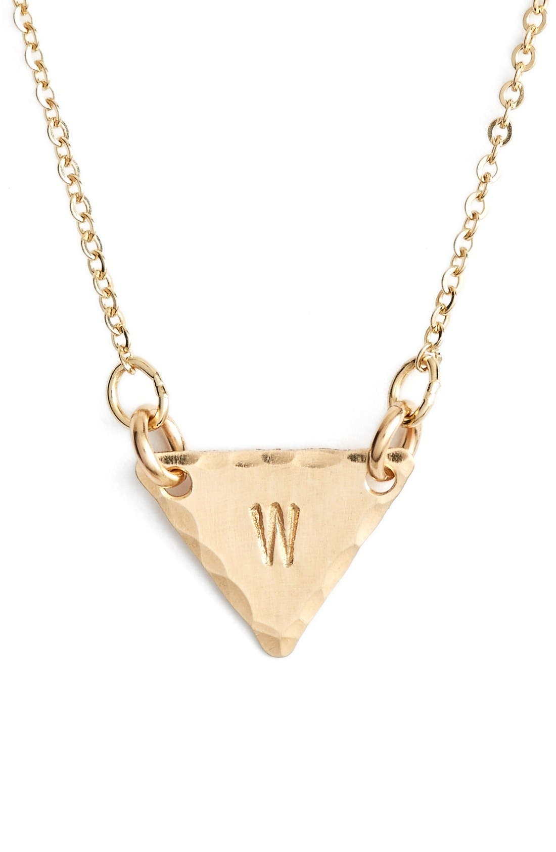 14k-Gold Fill Initial Triangle Necklace,                             Main thumbnail 23, color,