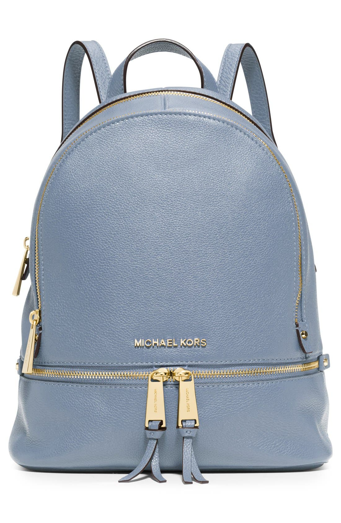'Extra Small Rhea Zip' Leather Backpack,                             Alternate thumbnail 16, color,
