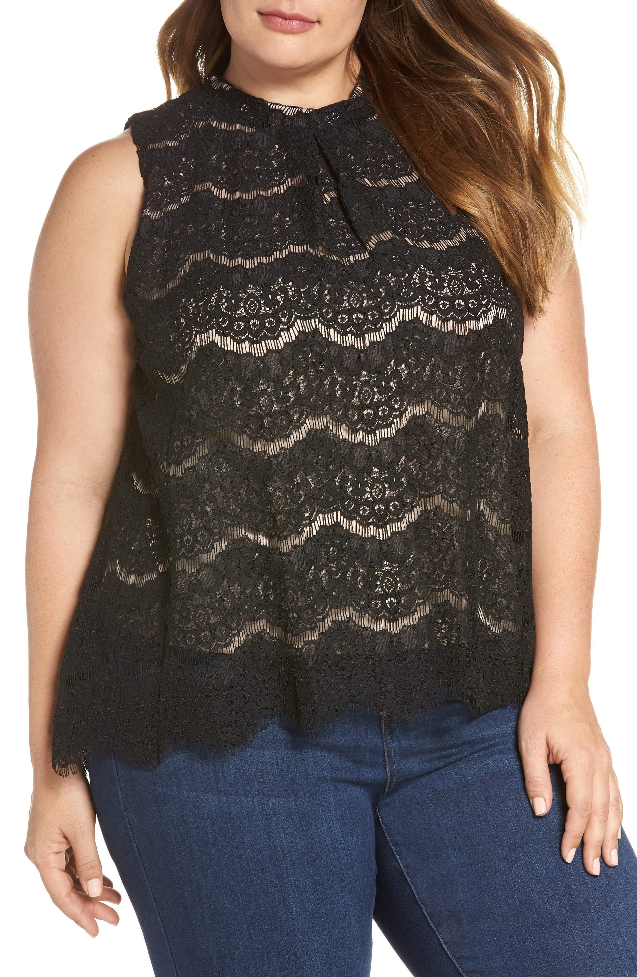 Lace Top,                             Main thumbnail 1, color,