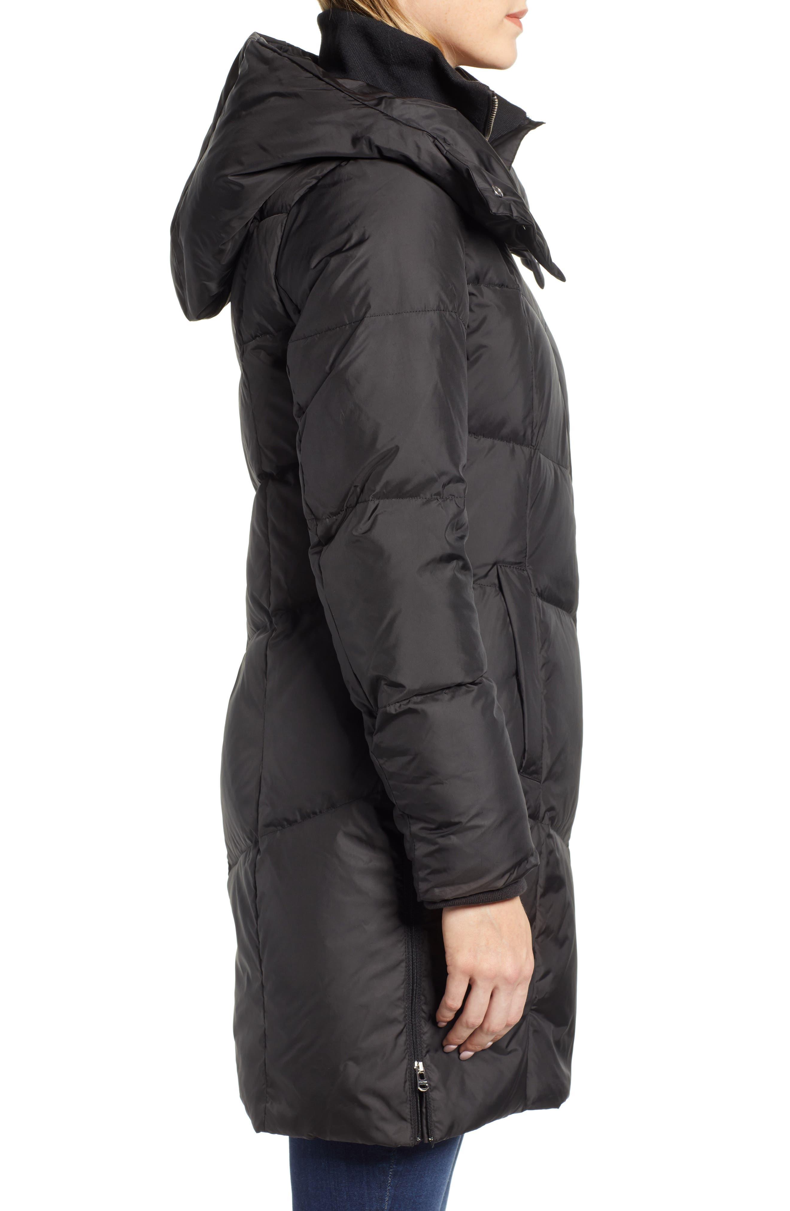 Essential Puffer Coat,                             Alternate thumbnail 3, color,                             BLACK