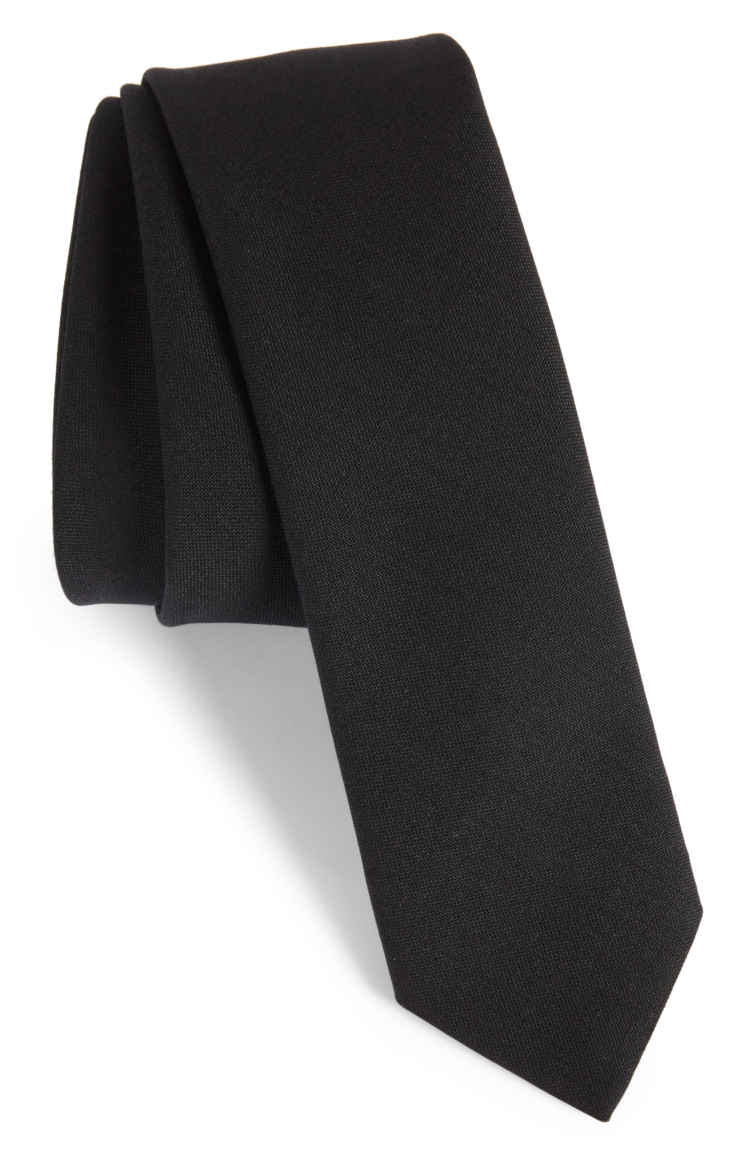Marled Wool Skinny Tie,                             Main thumbnail 1, color,